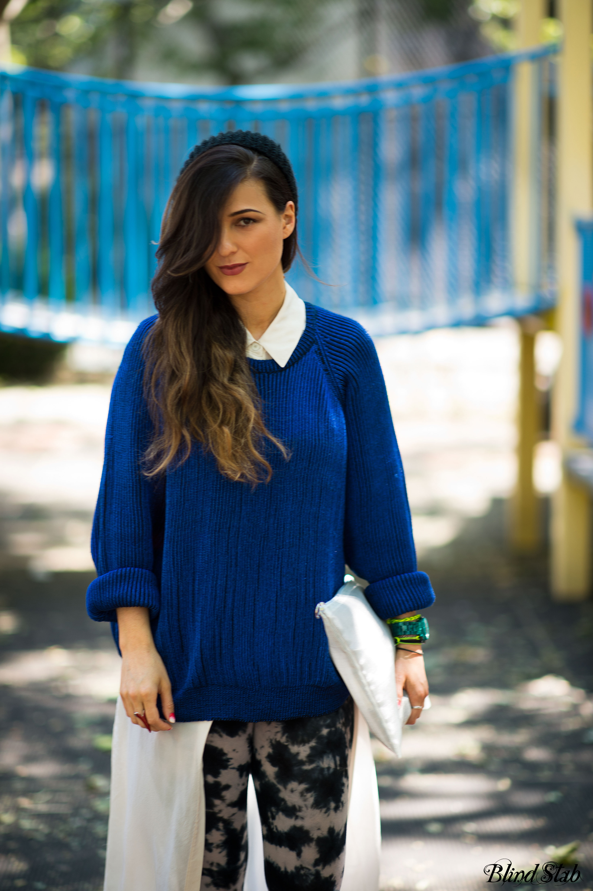 Streetstyle-Blue-Sweater-Cheap-Monday