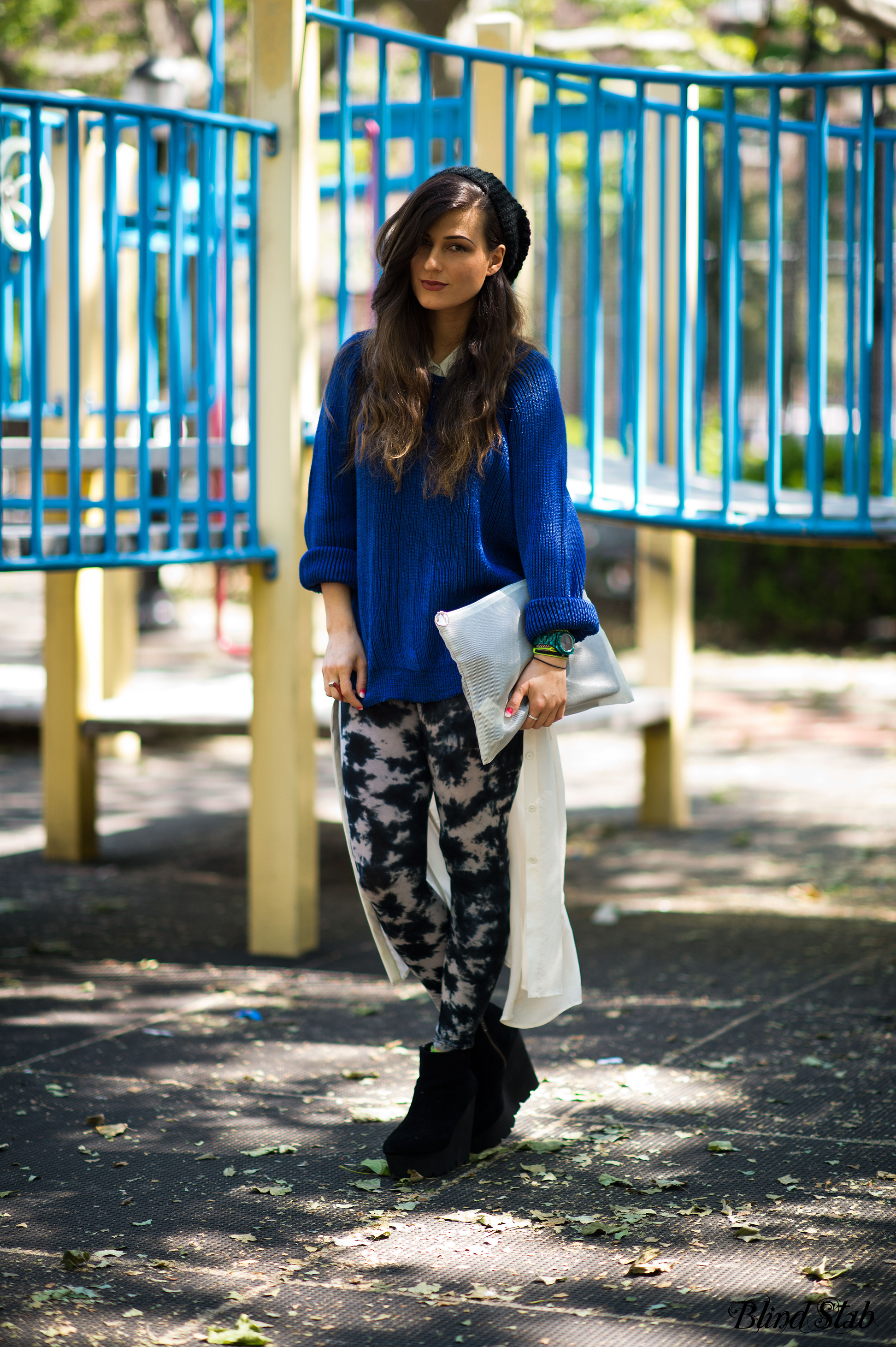 Streetstyle-Blue-Sweater-Cheap-Monday