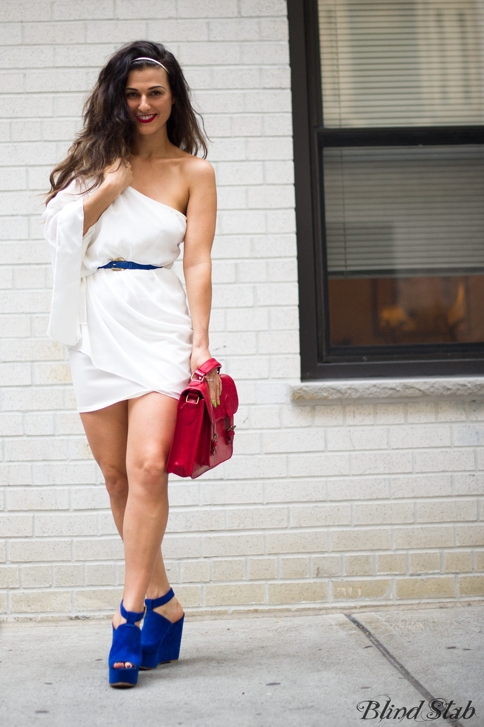 Blind-Stab-Dana-Suchow-4th-Of-July-White-One-Shoulder-Dress-TopShop-Platforms_KOO4054