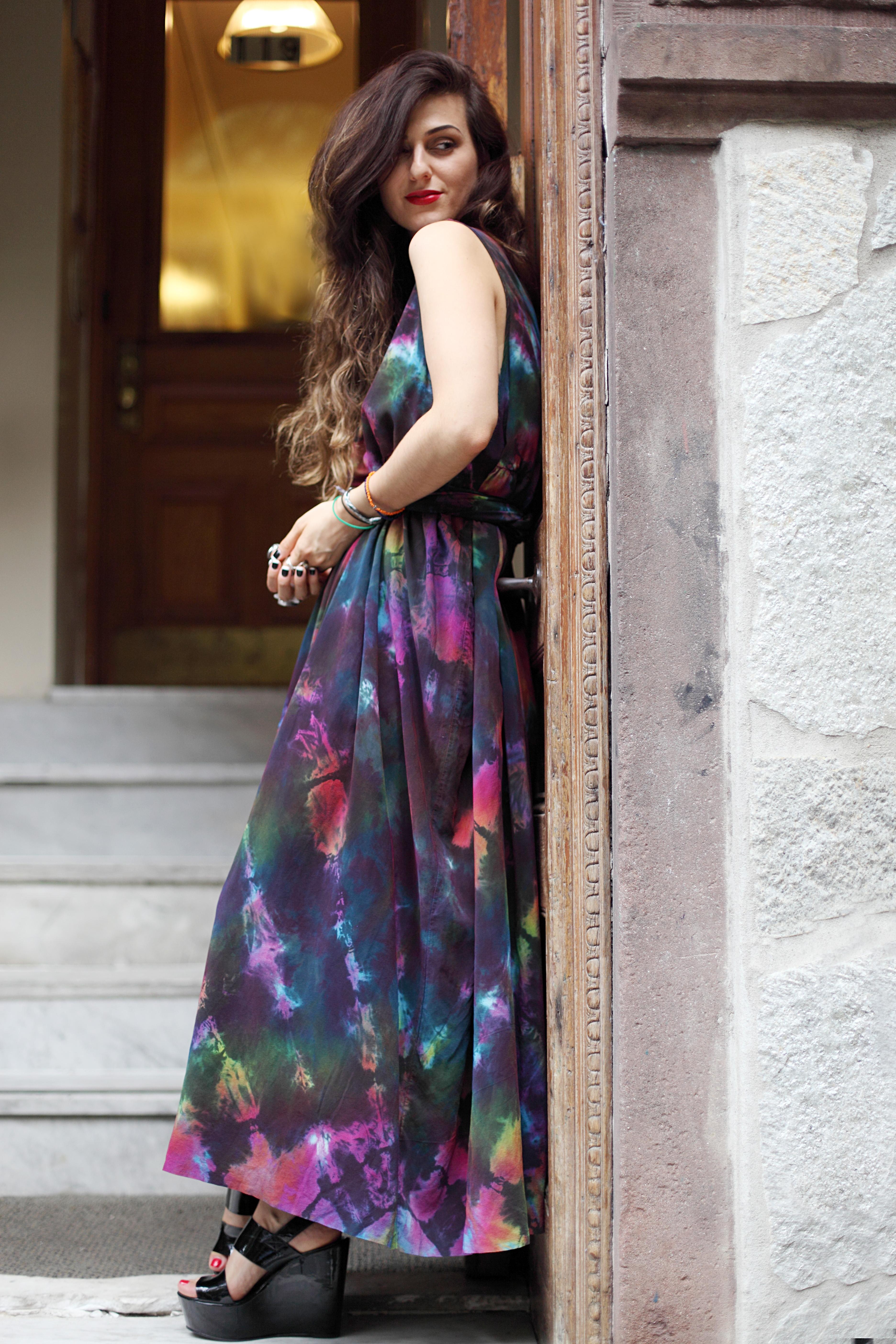 Tie-Dye-Dress-Blogger-Neon