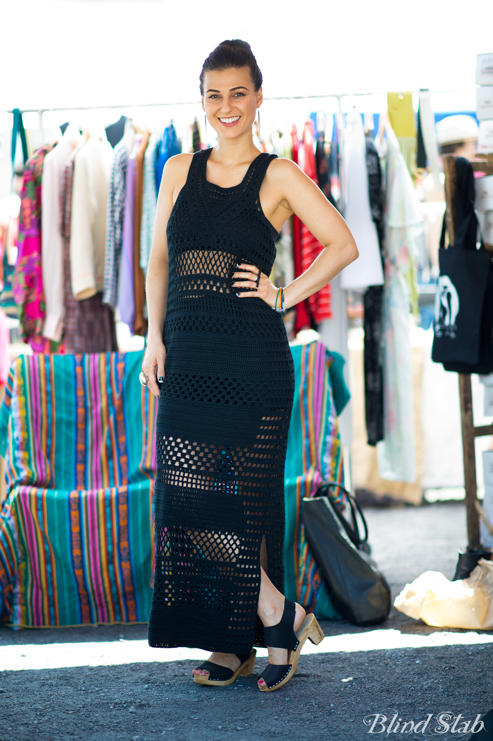 Crochet-Black-All-Saints-Dress