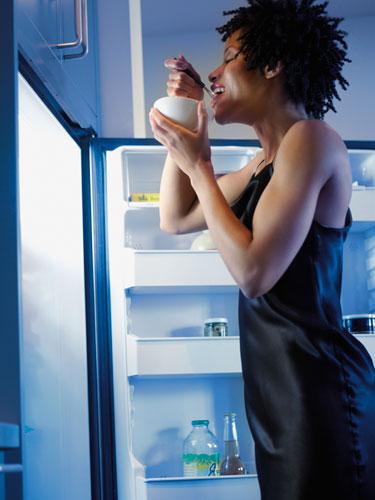 Woman-Diet-Eating-Fridge-Night