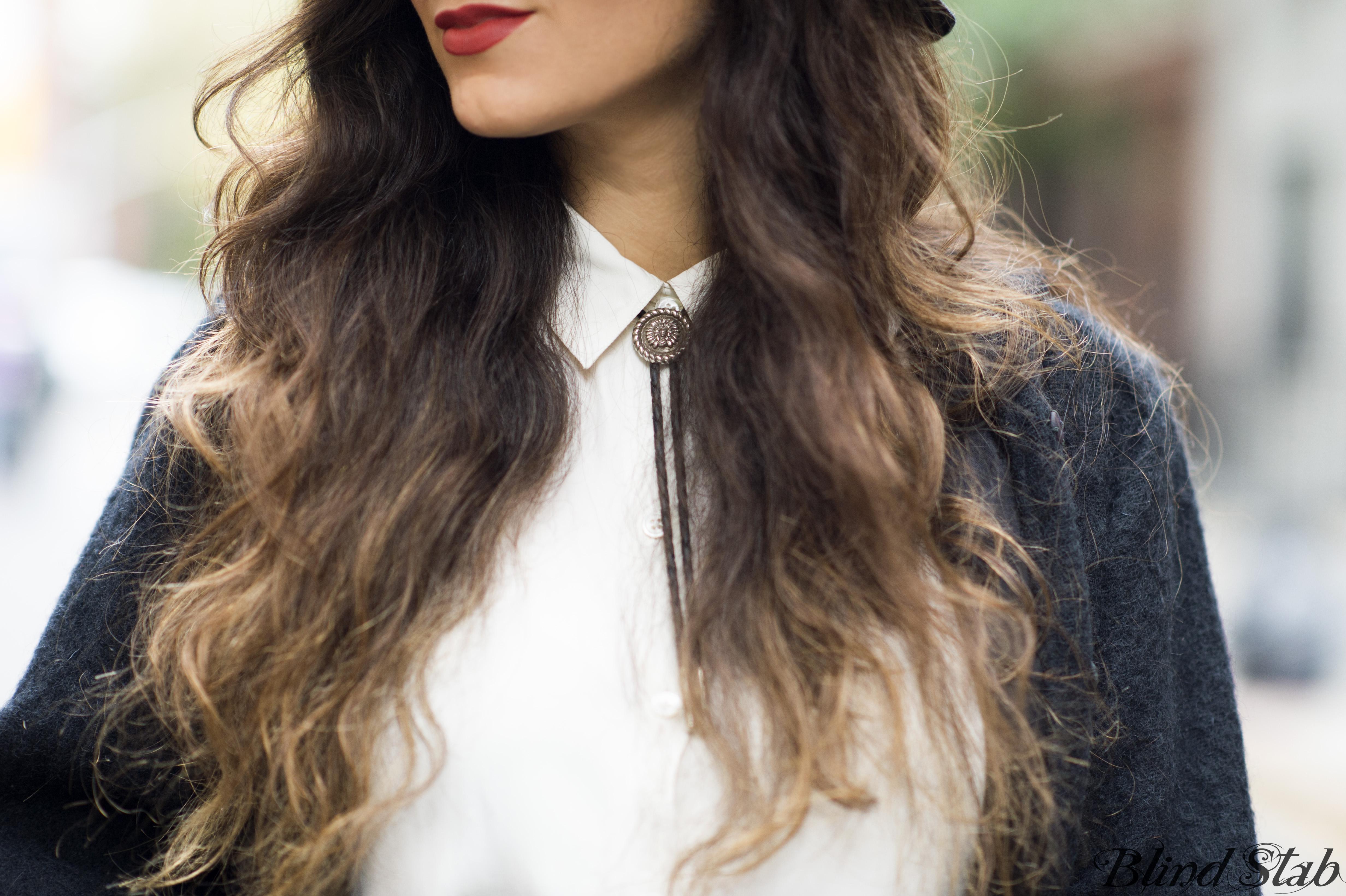 Ombre-Hair-Bolo-Tie