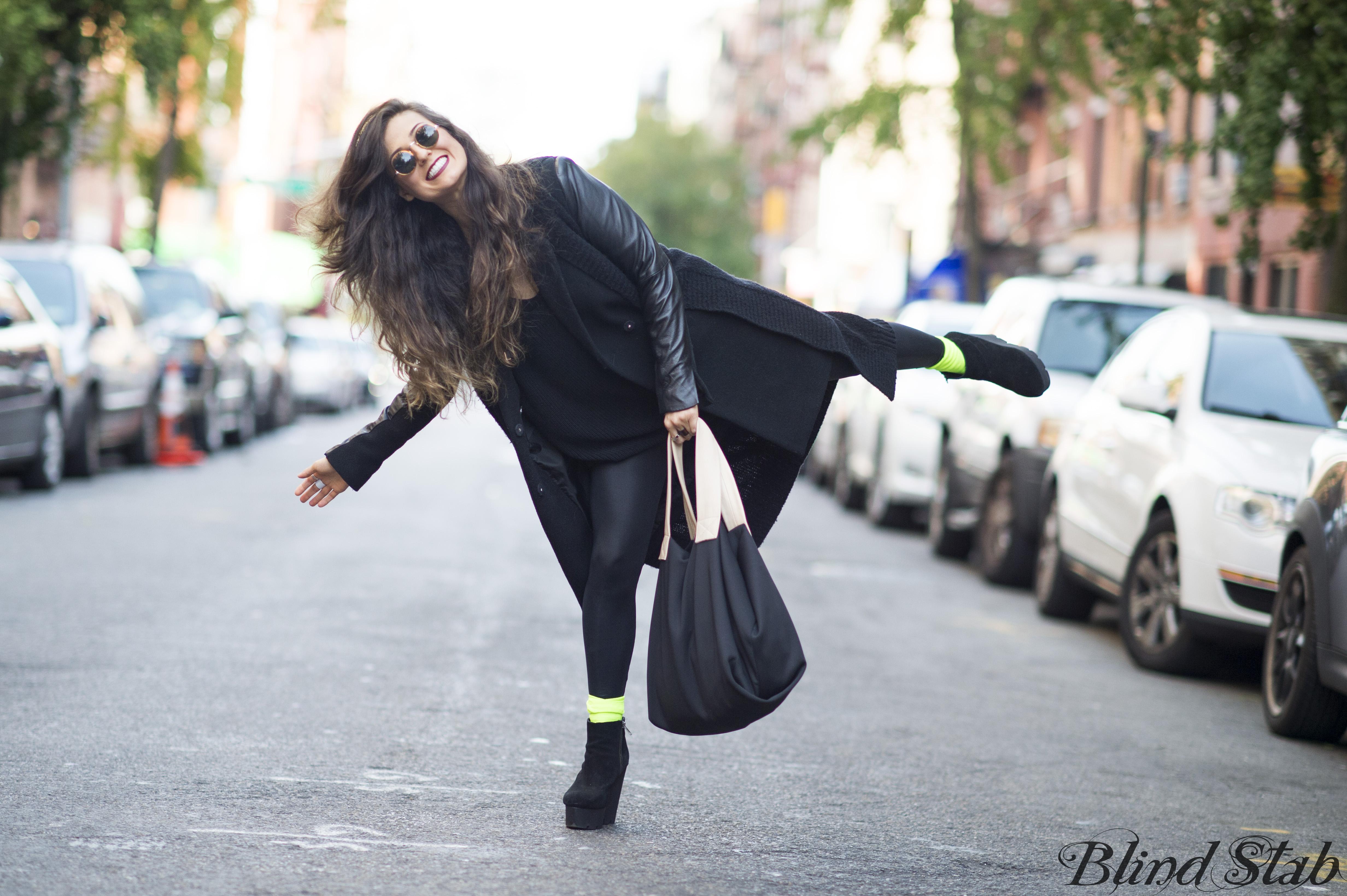 Black-Leather-Sleeve-Jacket-Coat