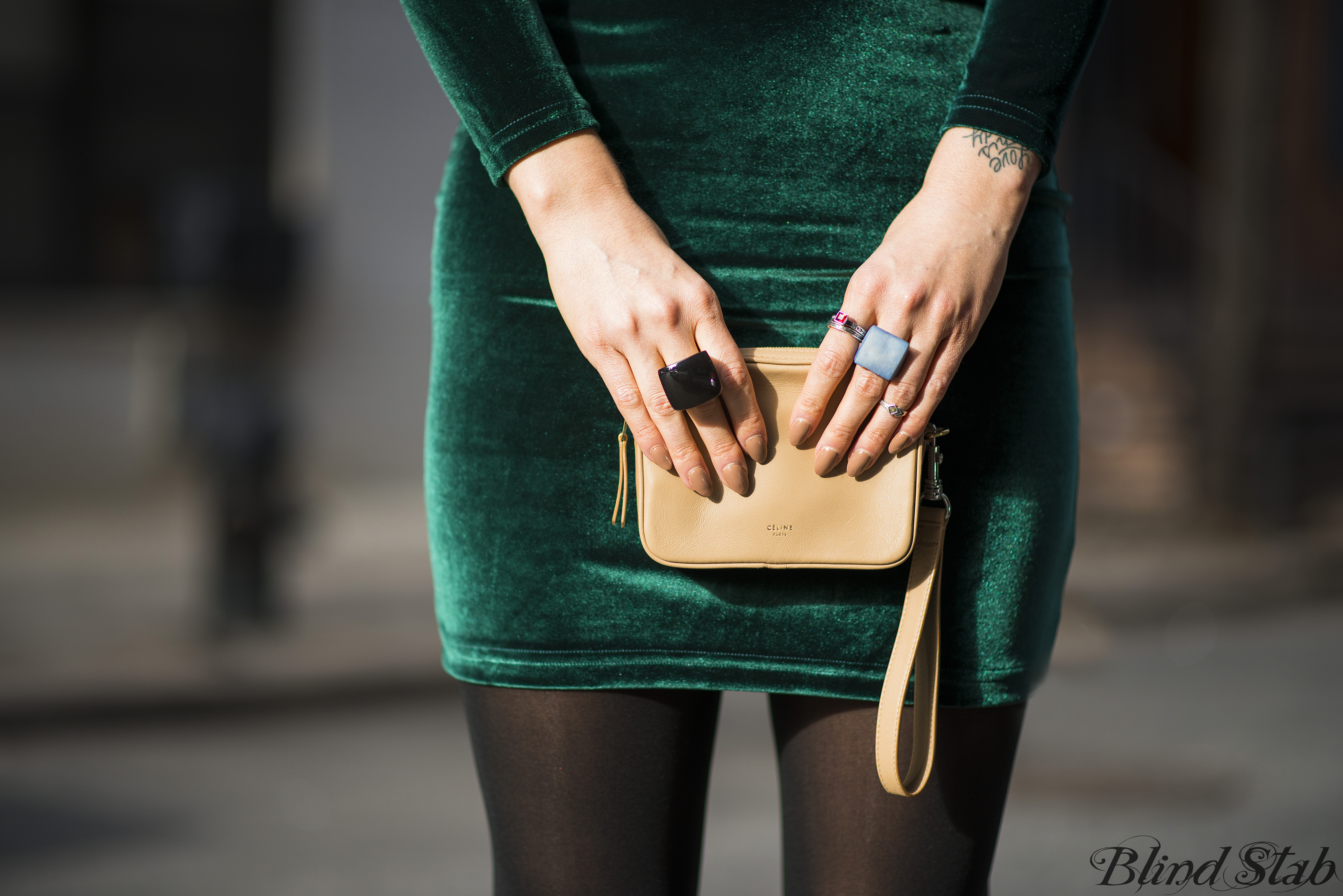Celine-Clutch-Nude-Tan-Pointy-Nails