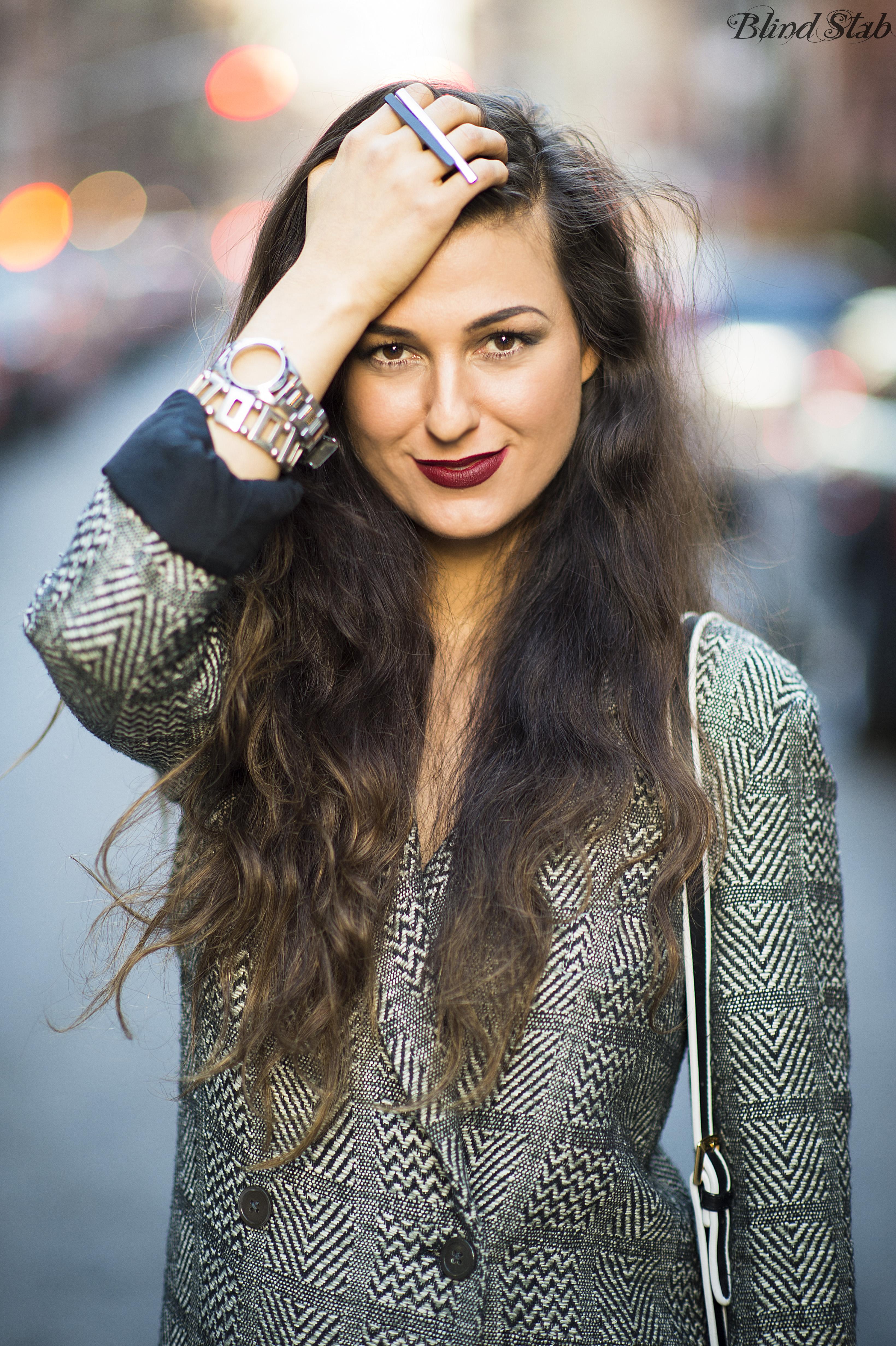 Long-Brown-Hair-Plaid-Coat-MAC-Diva