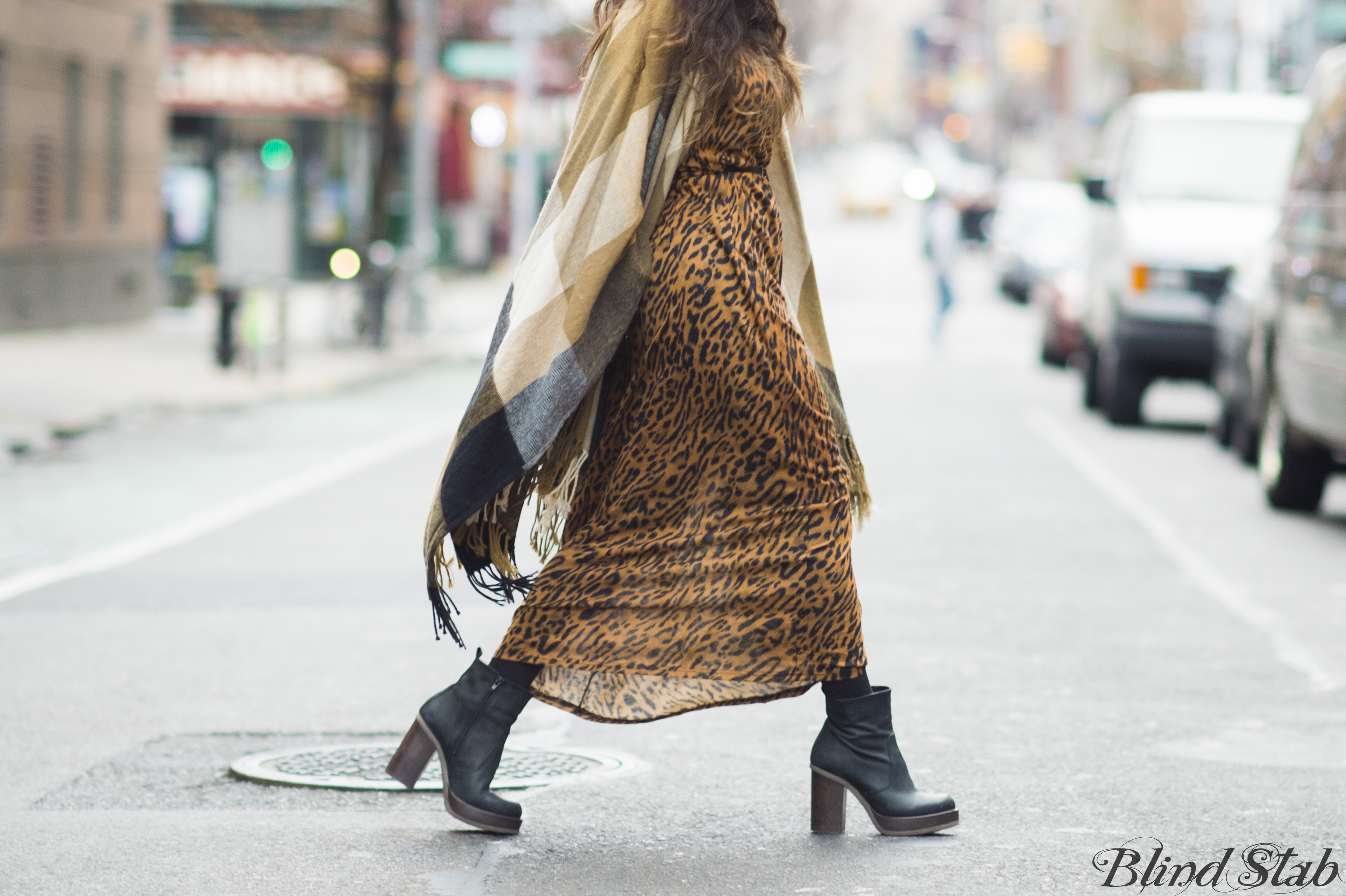 Earmuffs-Ankle-Boots-Plaid-Cape