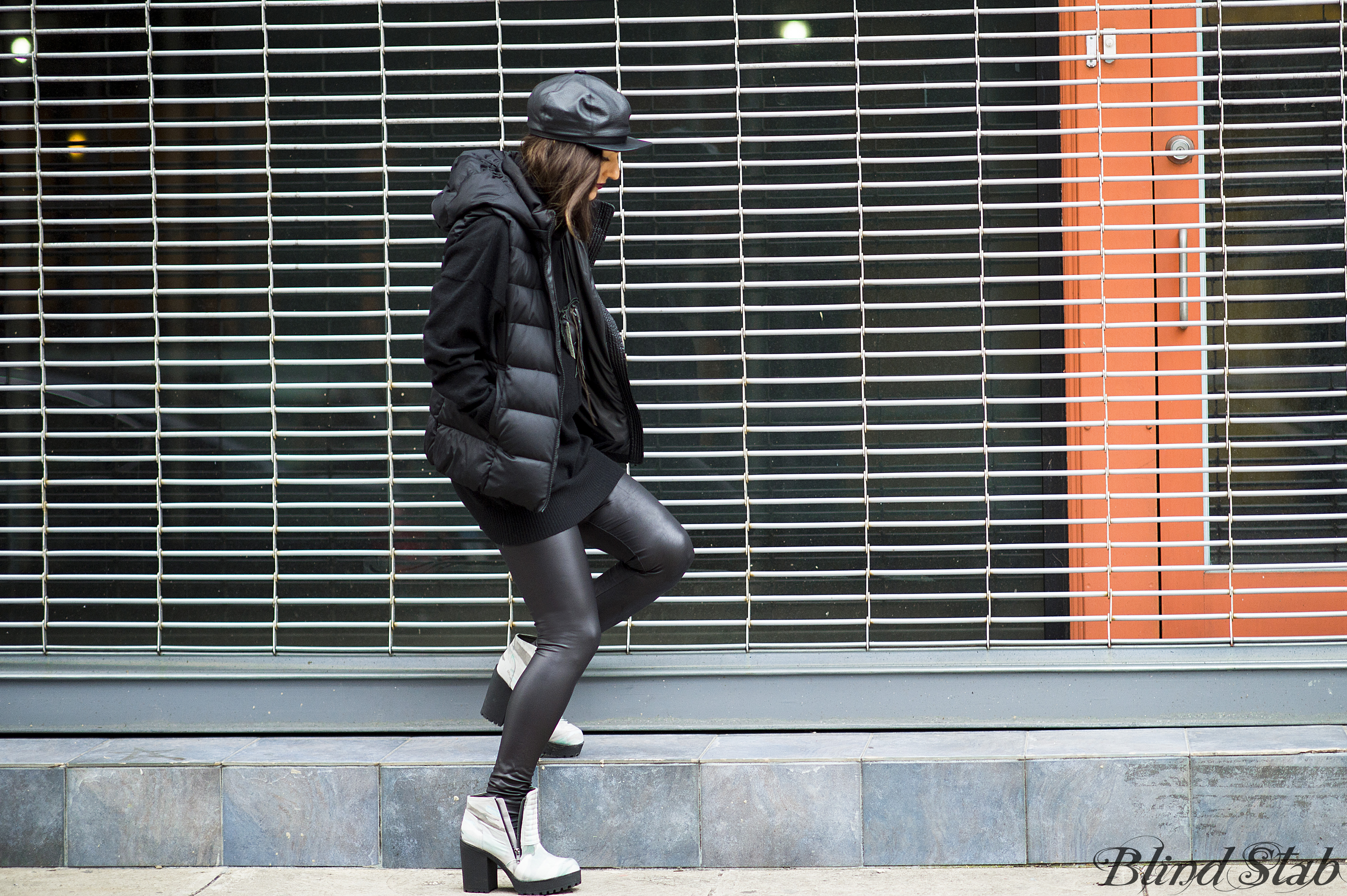 Leather-Hat-Vest-Black-Streetstyle-NYC