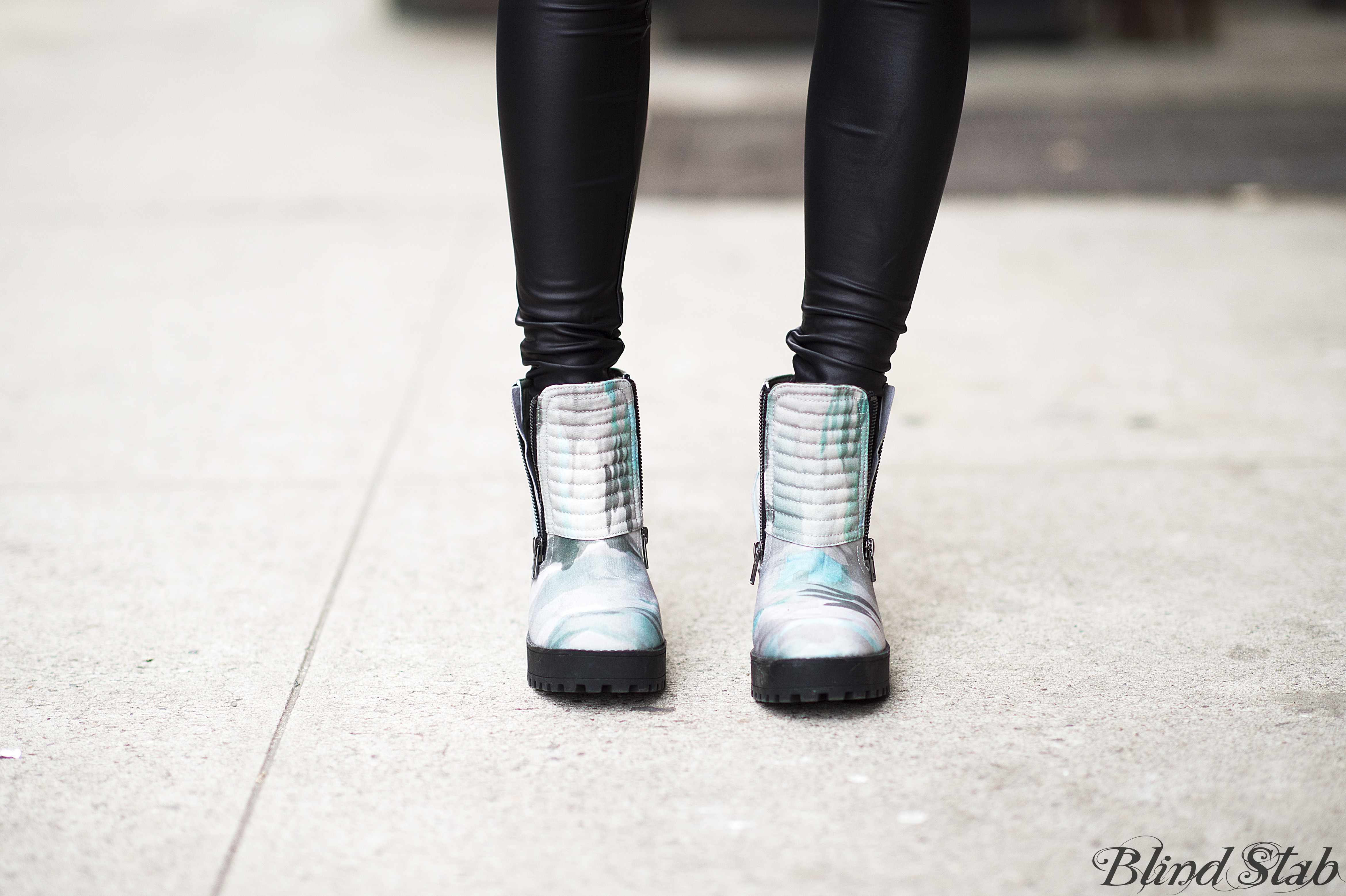 H&M-Ankle-Boots-Cargo-Army-Teal-Green-Platforms