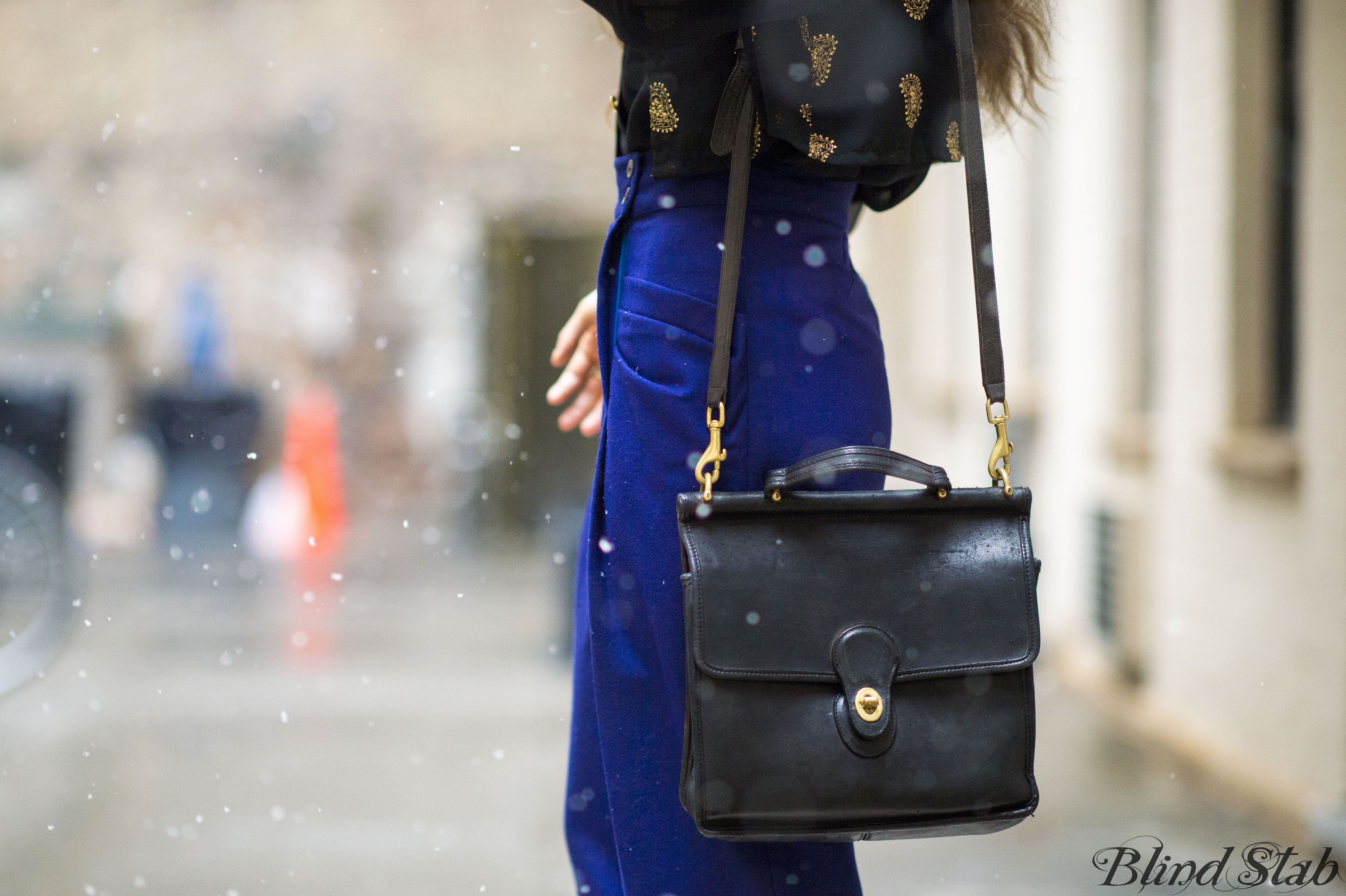 New-York-City-Fashion-Snow-Winter-Blue-Pants