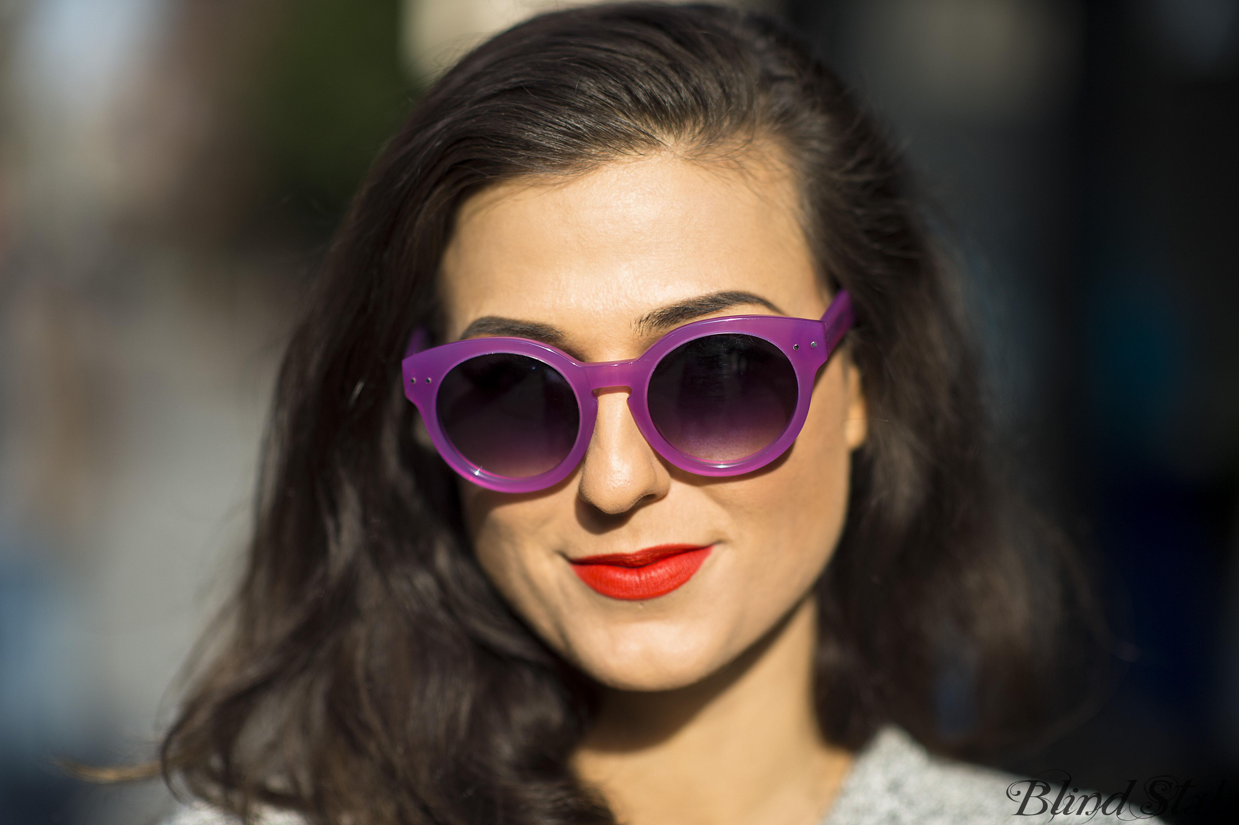 Blind Stab Dana Suchow Purple Madewell Sunglasses So Chaud MAC Lipstick