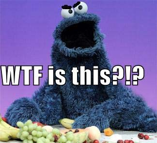 Do the hotpants Cookie Monster WTF Is This Vegetables Fruit