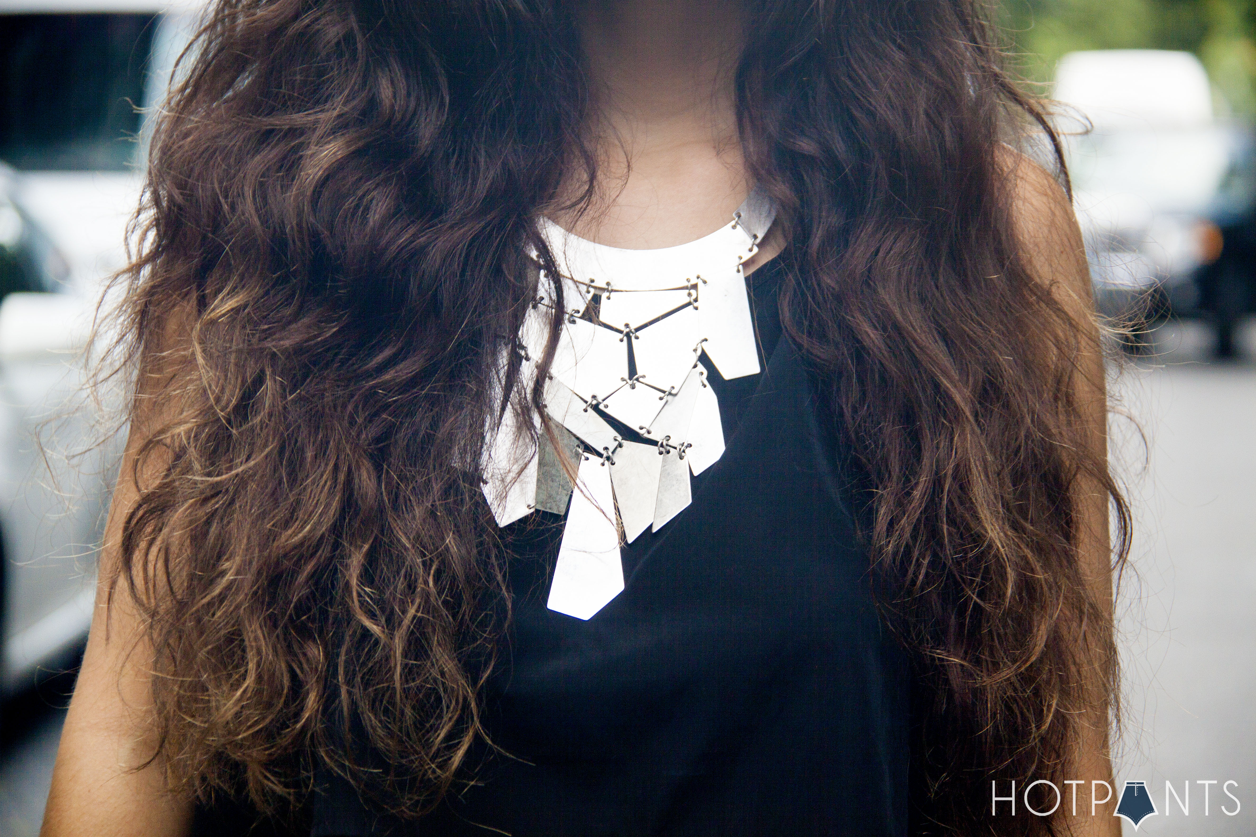 Silver Statement Necklace Crop Top NYC Summer Streetstyle