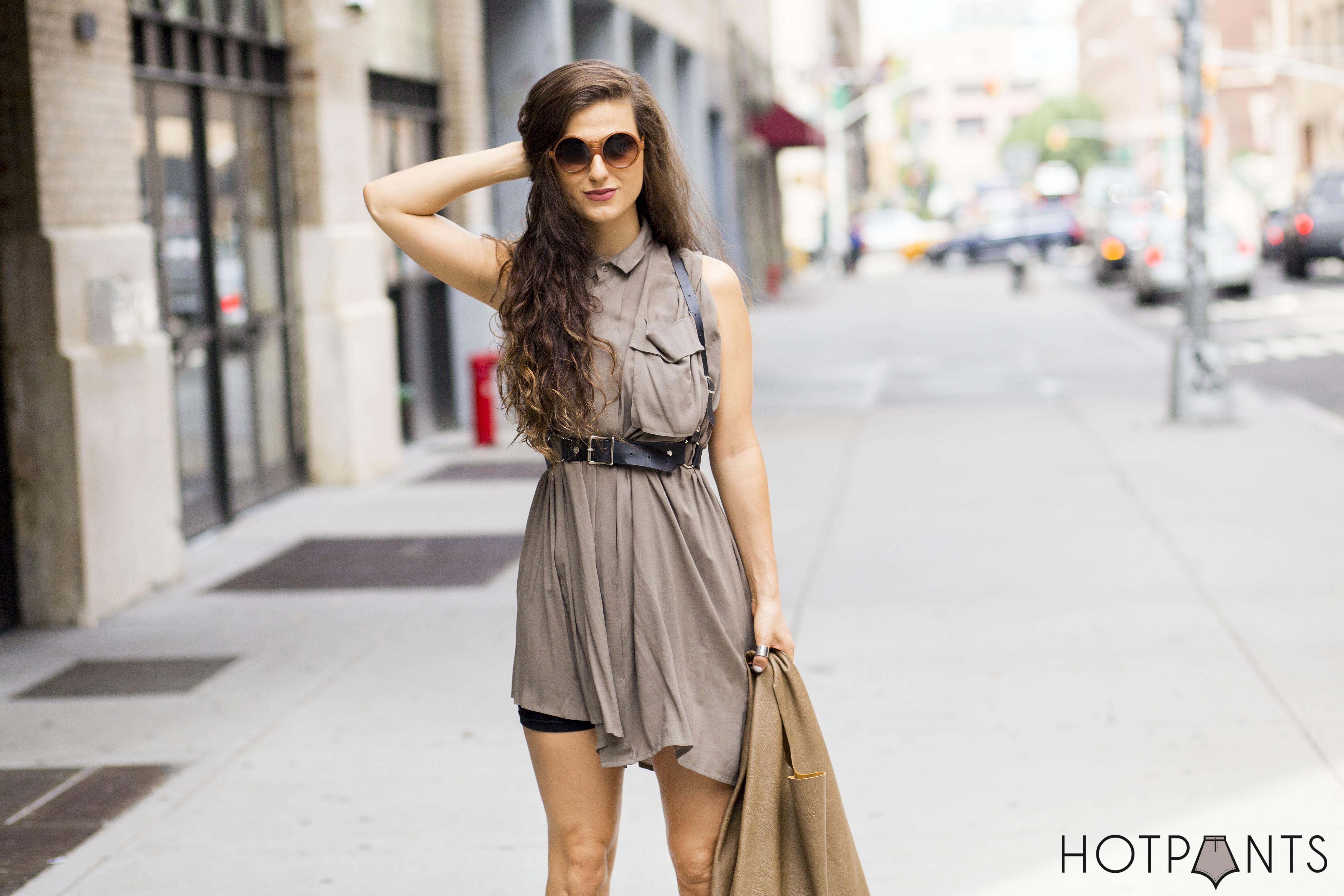 Zana Bayne Leather Harness Alexander Wang Gladiators NYC Summer Streetstyle