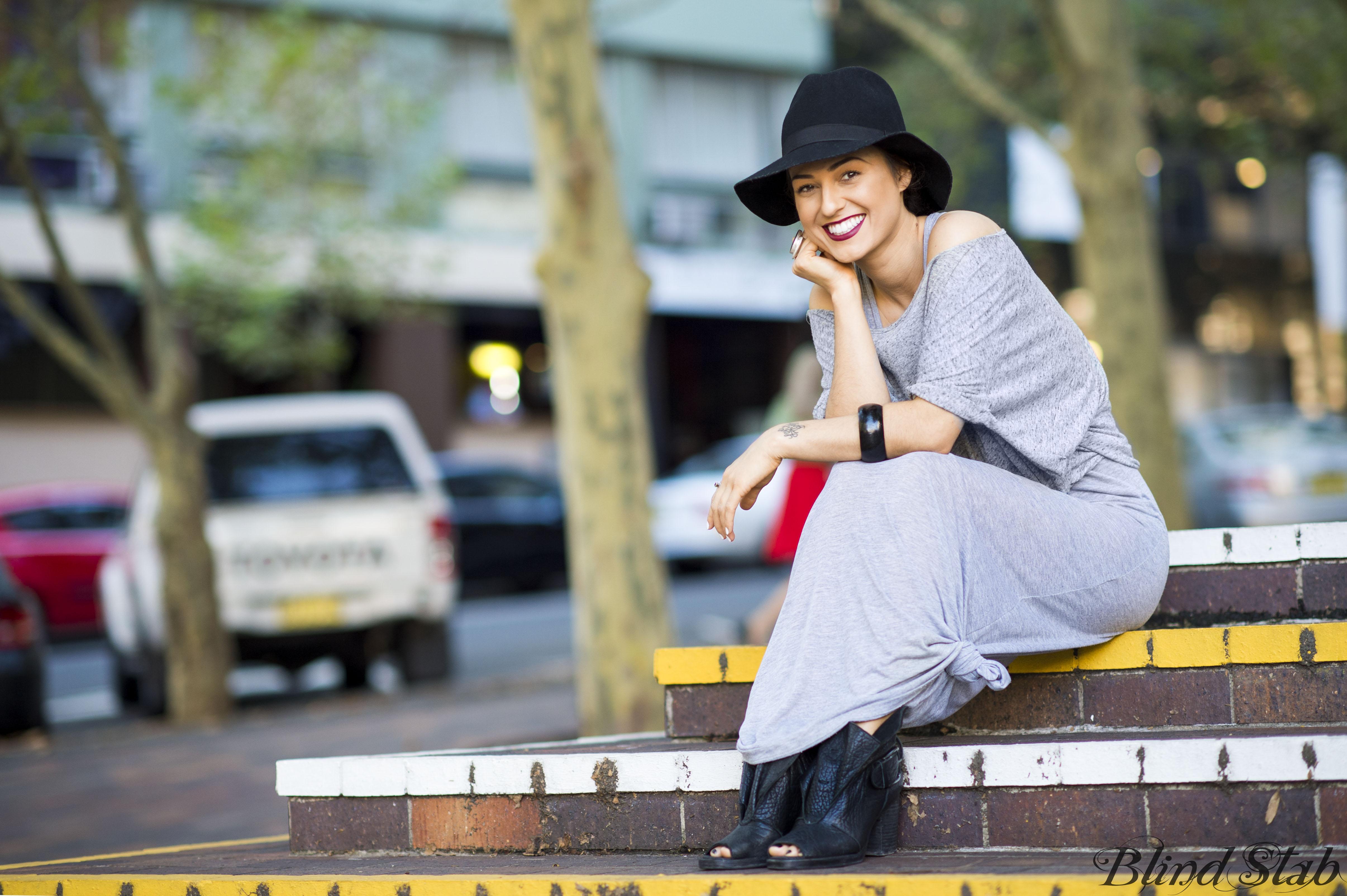 Blind Stab Dana Suchow Sydney Fashion Week Spring Black Wide Brim Hat 7
