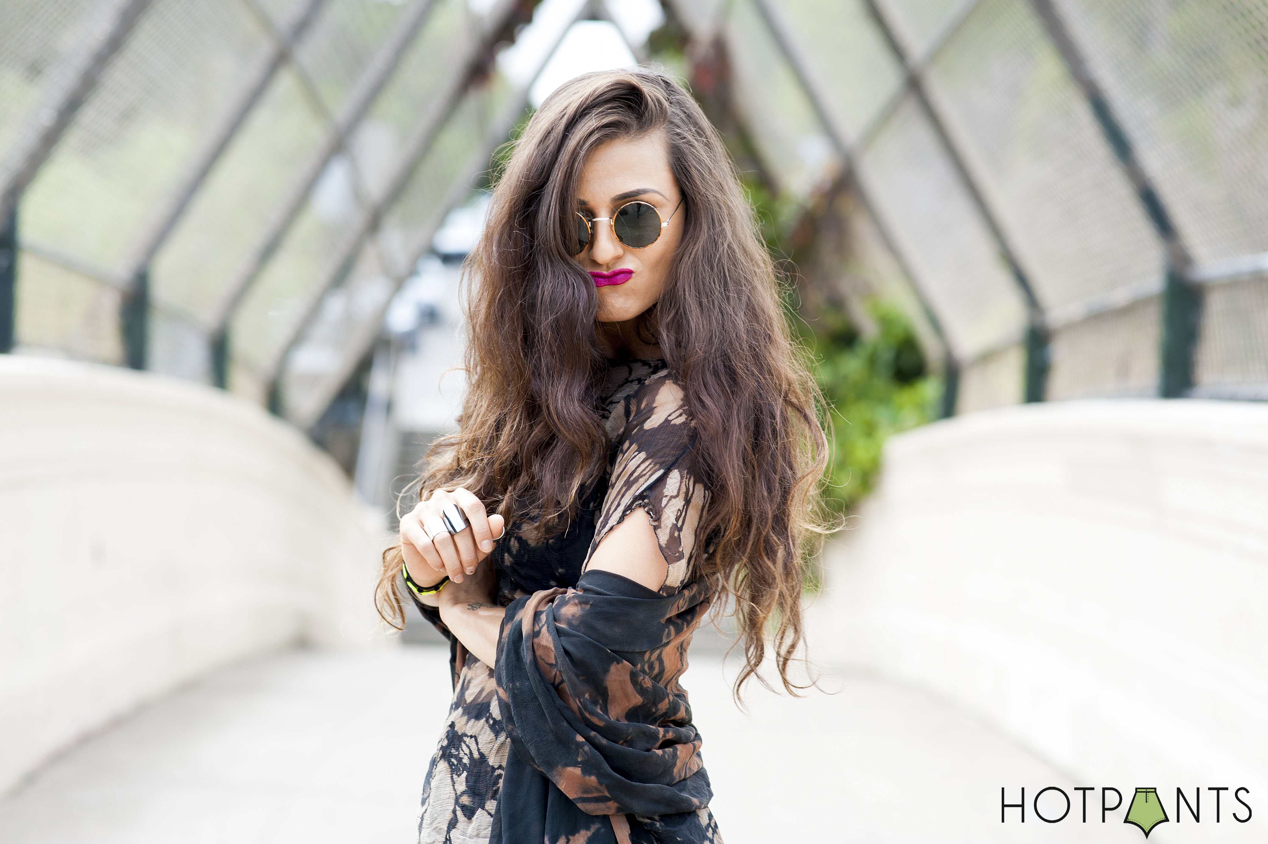 San Francisco Funny Blogger Long Ombre Hair