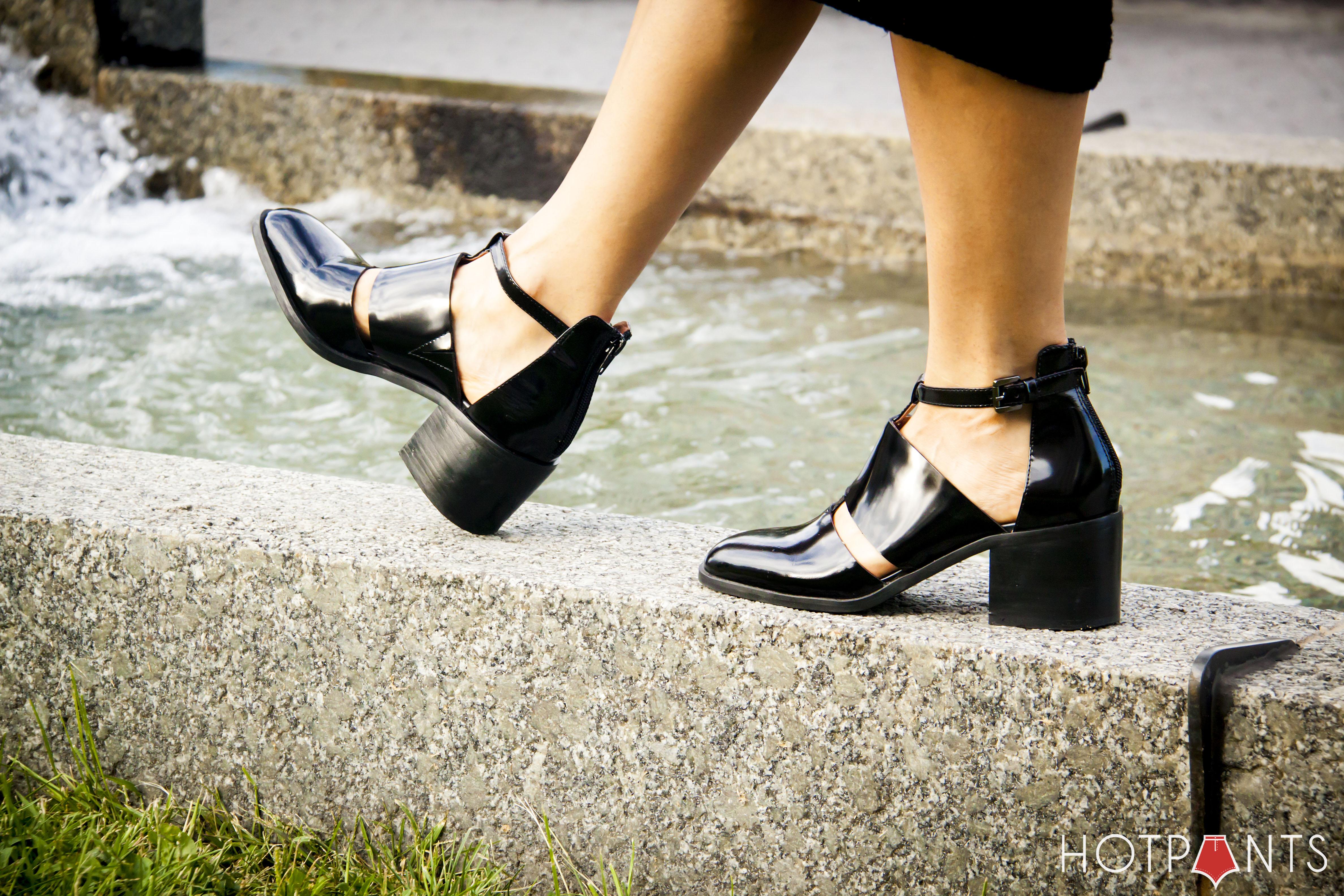Poodle Puppy Black Alexander Wang Cutout Ankle Boots