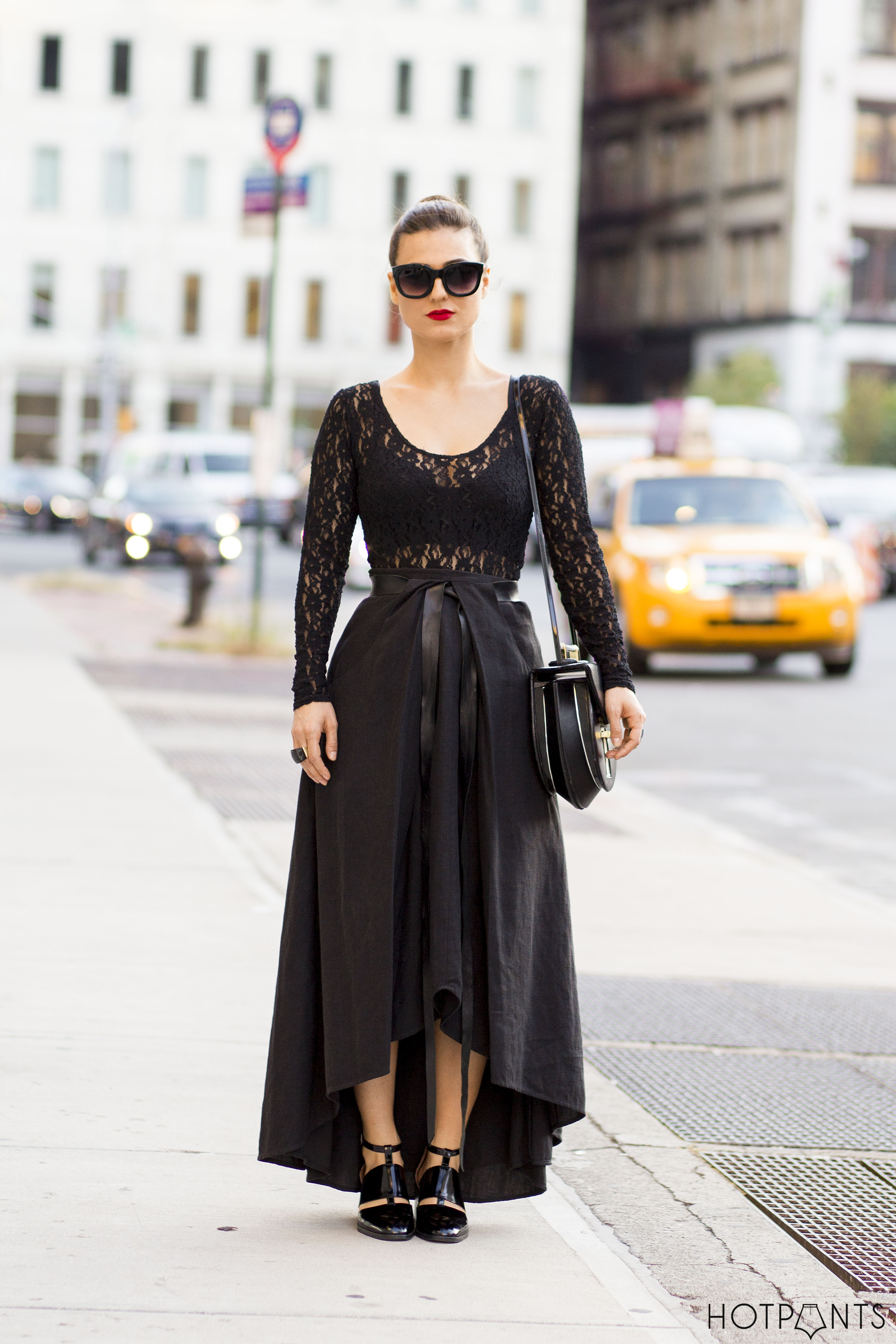 Goth Black New York Fall 2013 Streetstyle Red Lipstick