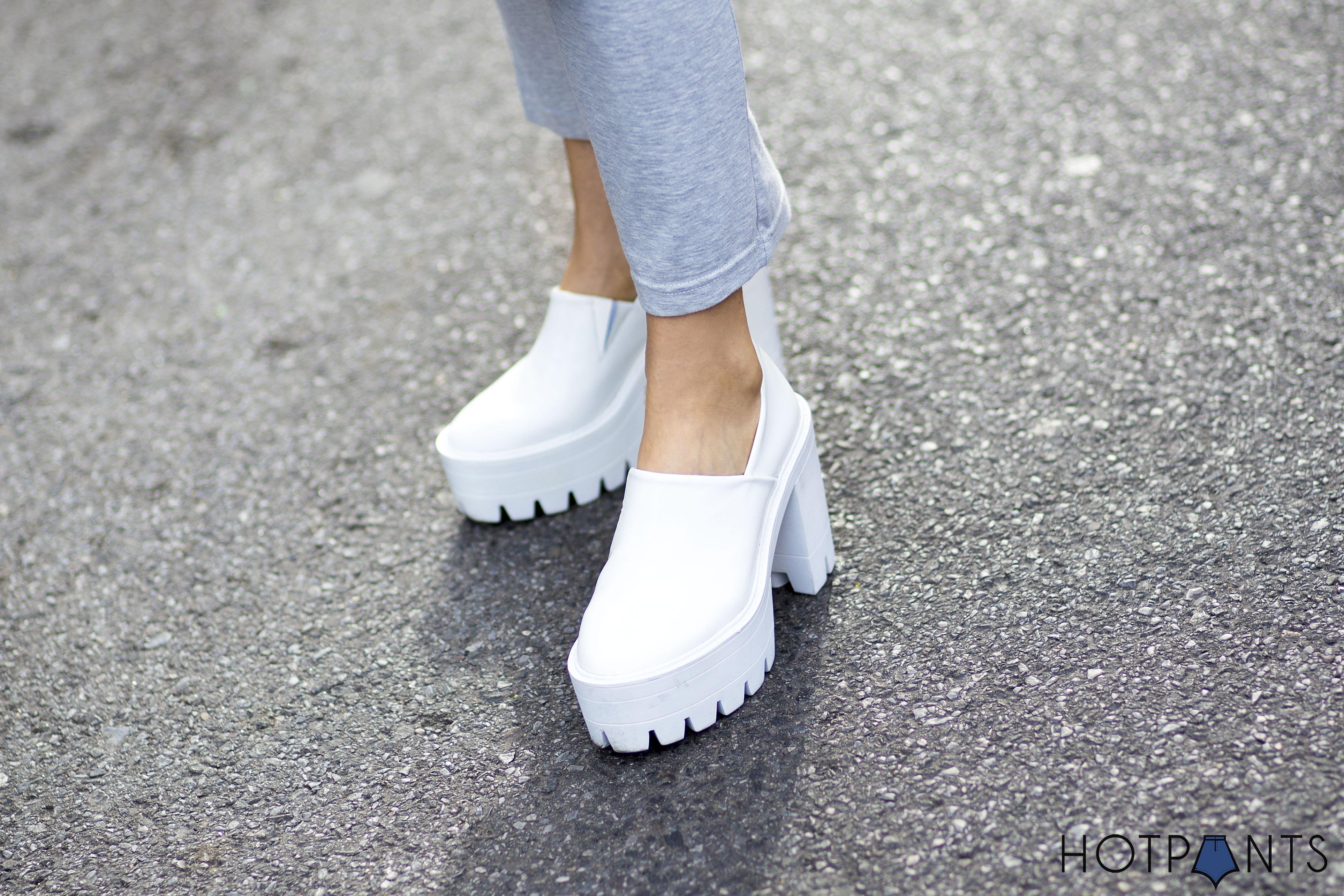 Stella McCartney White Chunky Platform Heels