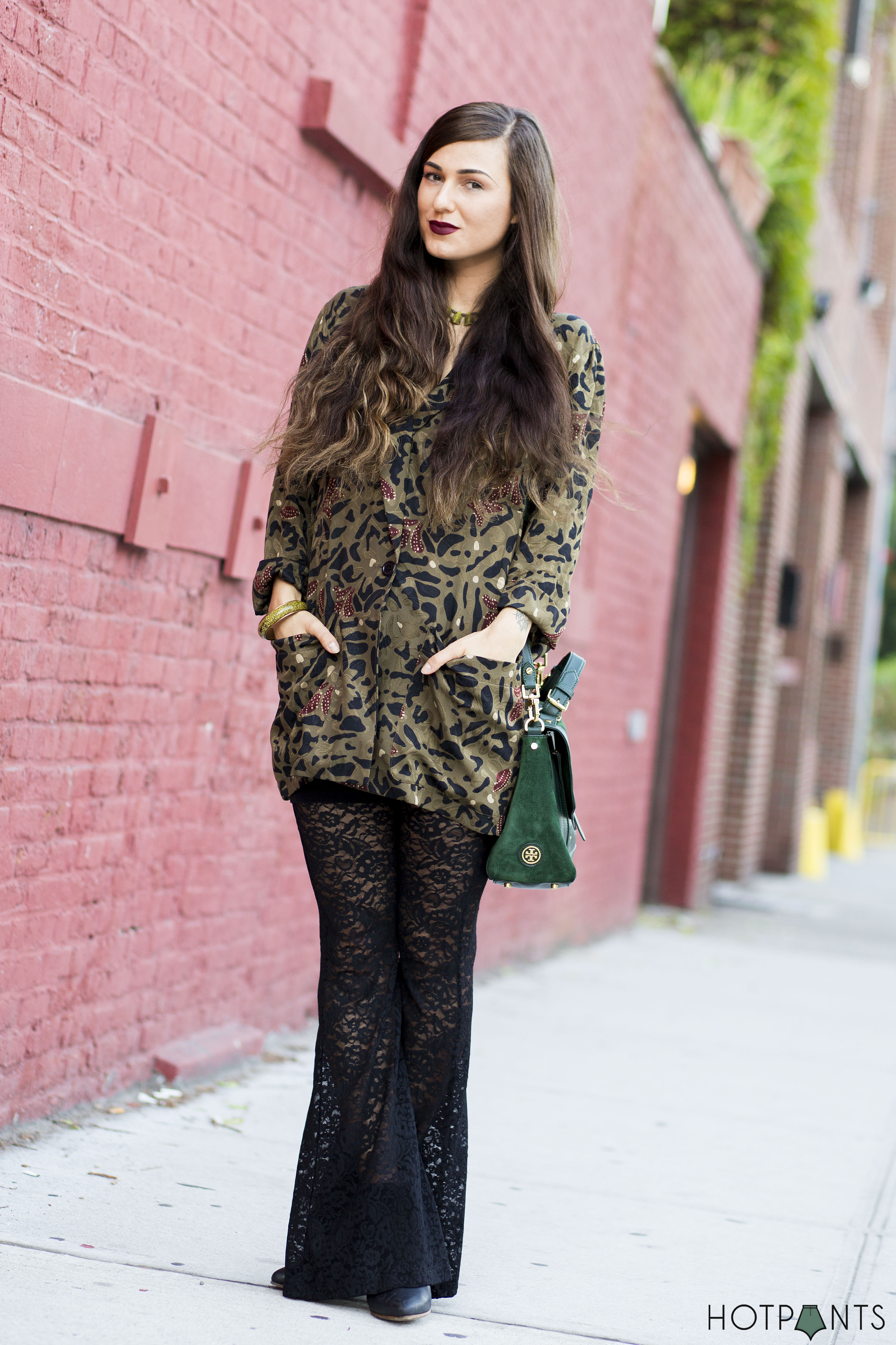 Do The Hotpants Dana Suchow Lace Leggings Long Hair NYC Blogger Bell Bottoms 17