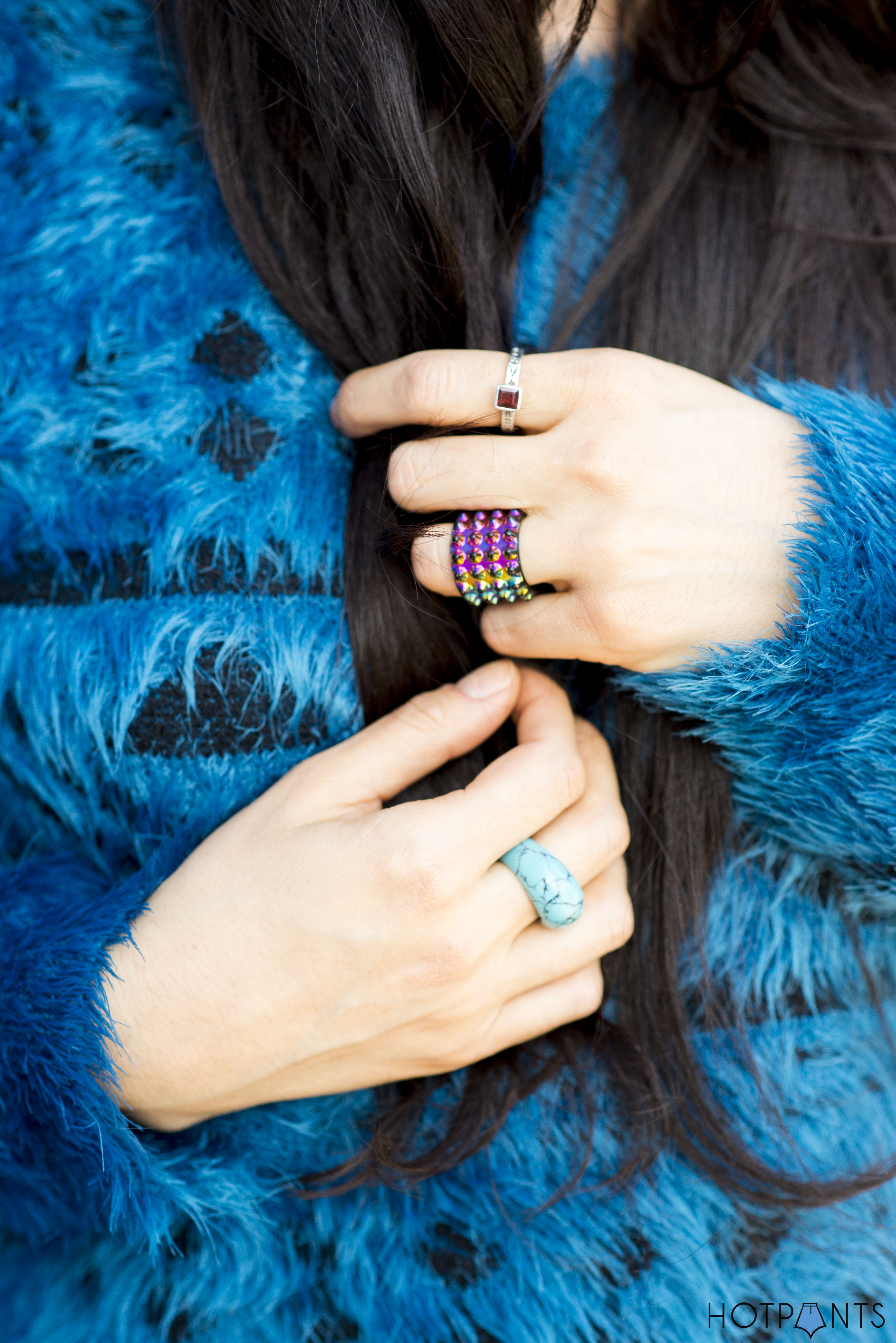 Do The Hotpants Dana Suchow Leather Hat Blue Furry Sweater Cookie Monster Muppet Costume 25