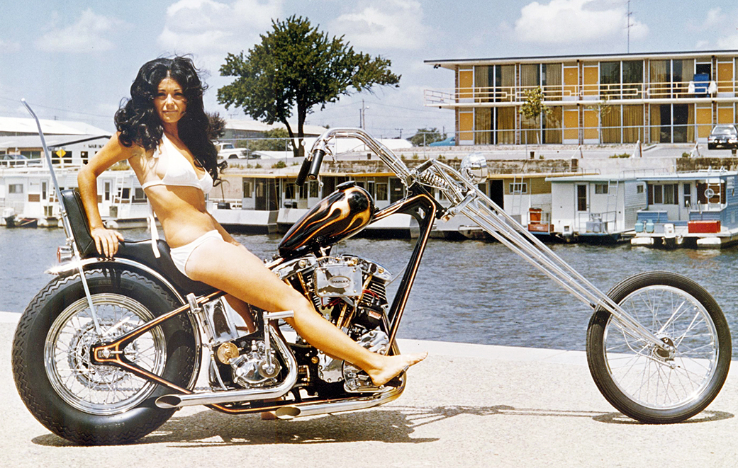 julie-bikini-model-harley-chopper