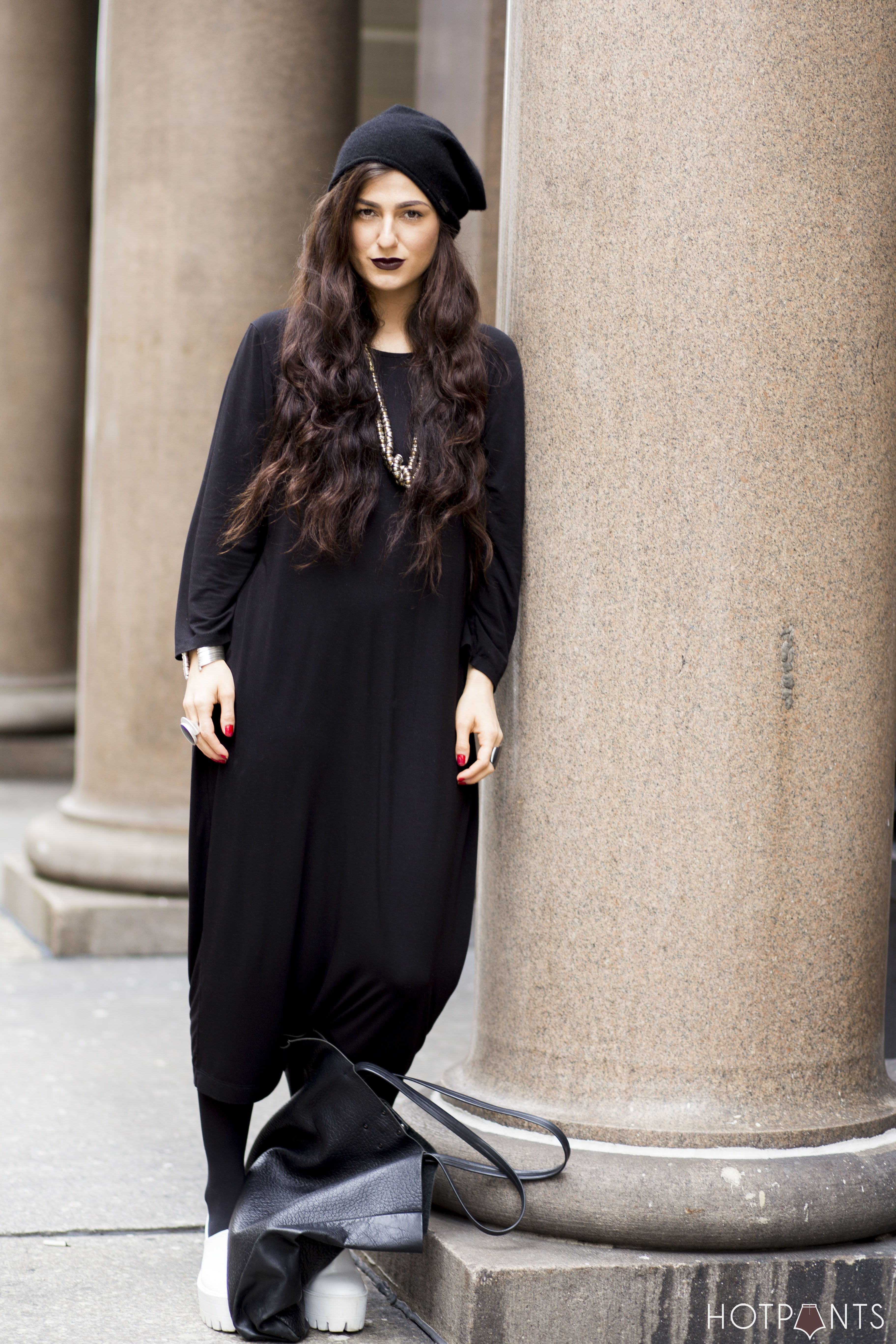 Wednesday Adams Costume Long Wavy Hair Black Lipstick