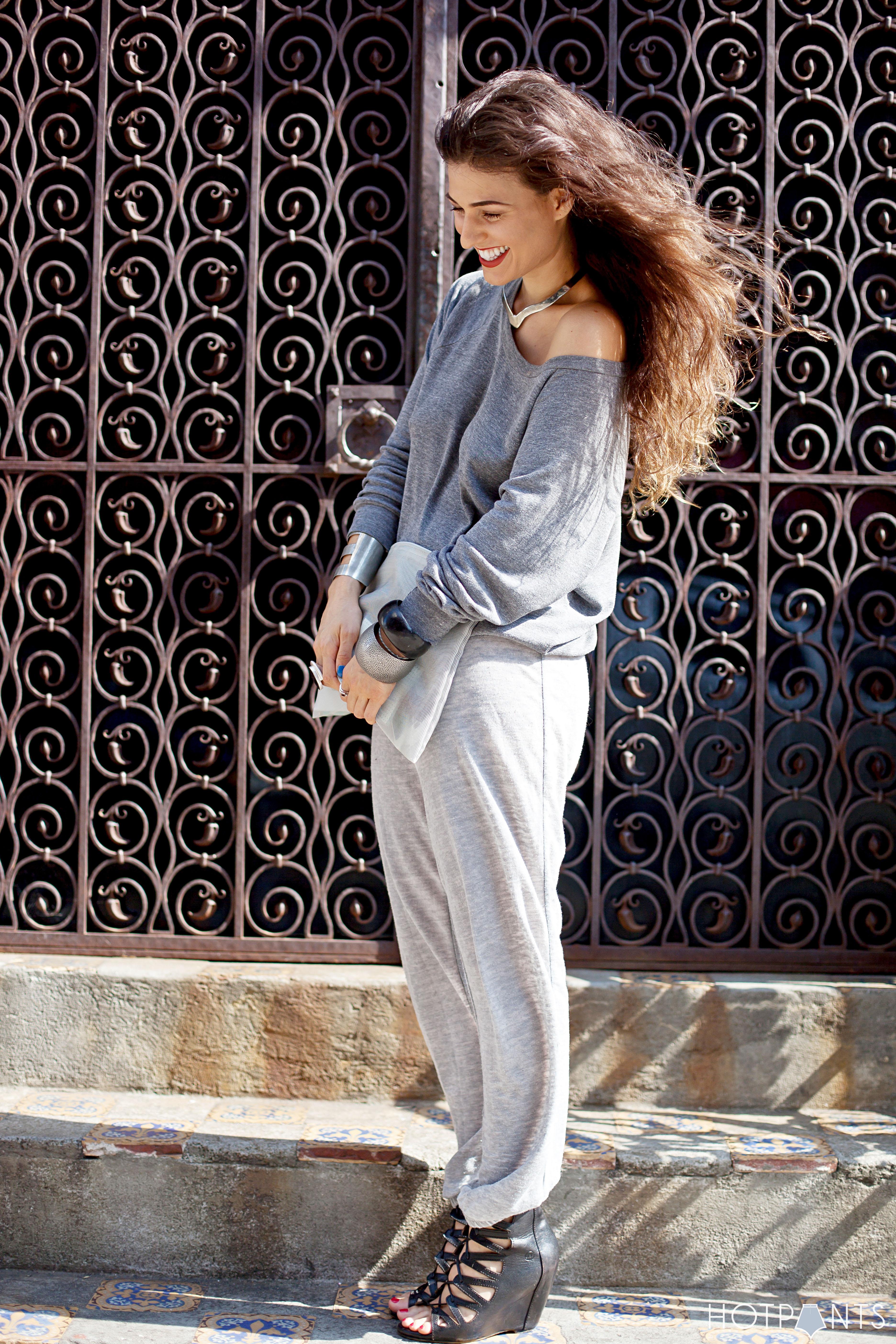 Mesh Purse Long Hair NYC Spring Street Style