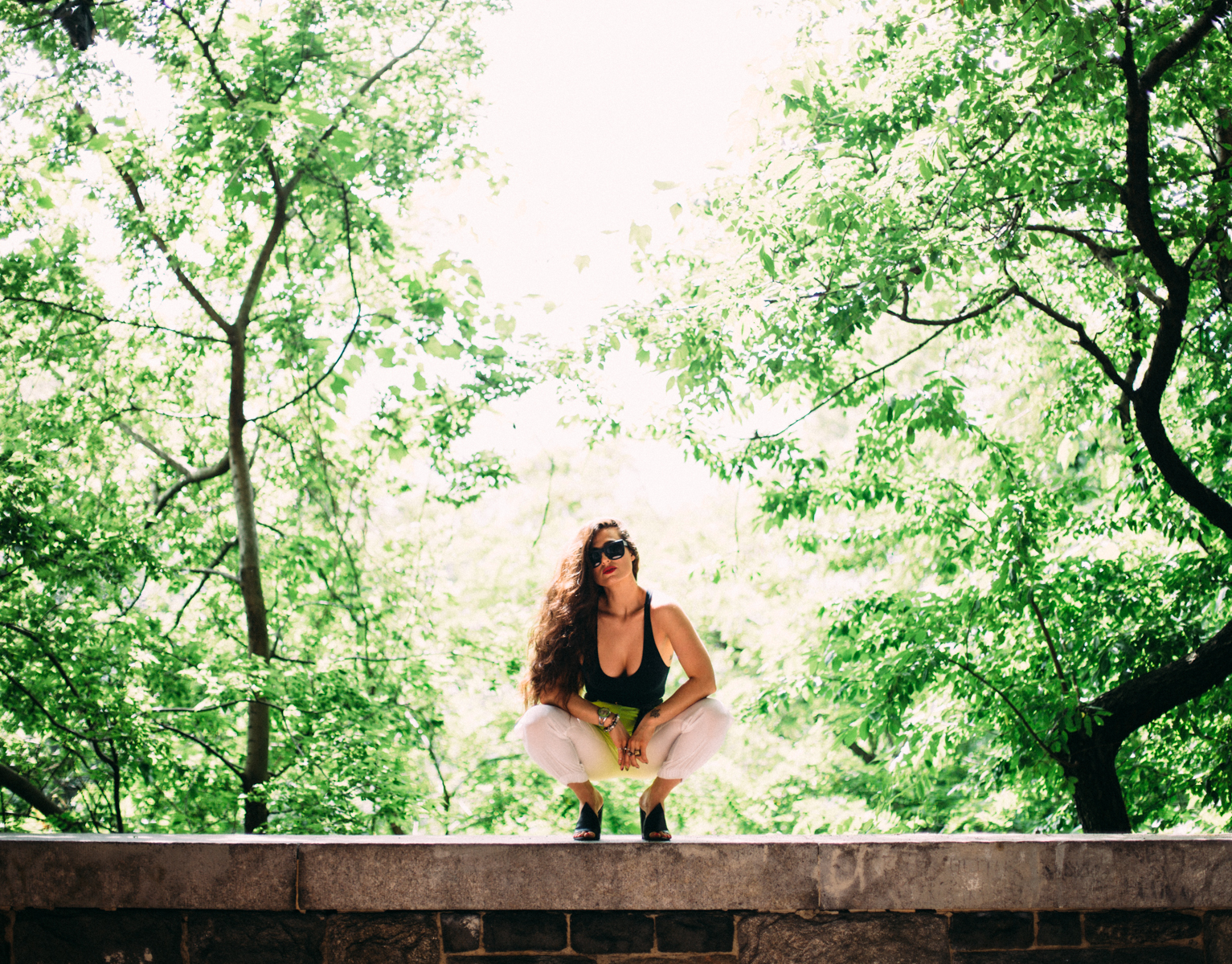 NYC New York City Girl Model Woman Photoshoot Woods Nature