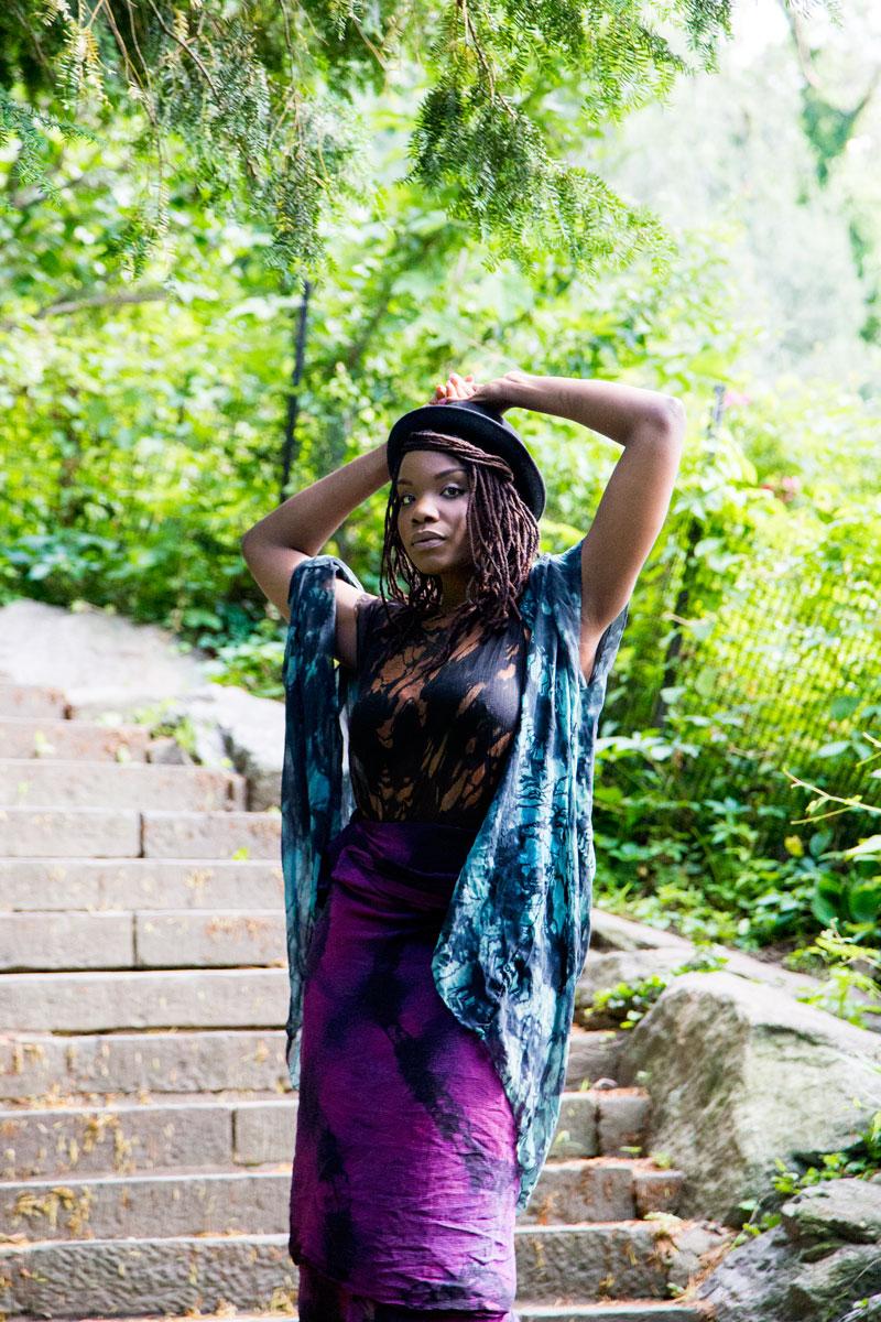 Black Woman Bowler Hat Headwrap Scarves Stunning Profile
