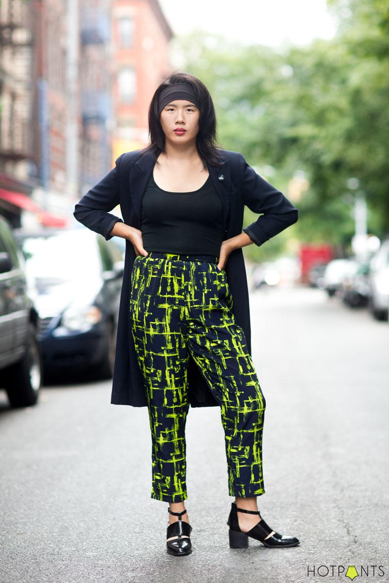 Beautiful Asian Woman Model MAC Lipstick Baseball Hat ACDC Rock Shirt