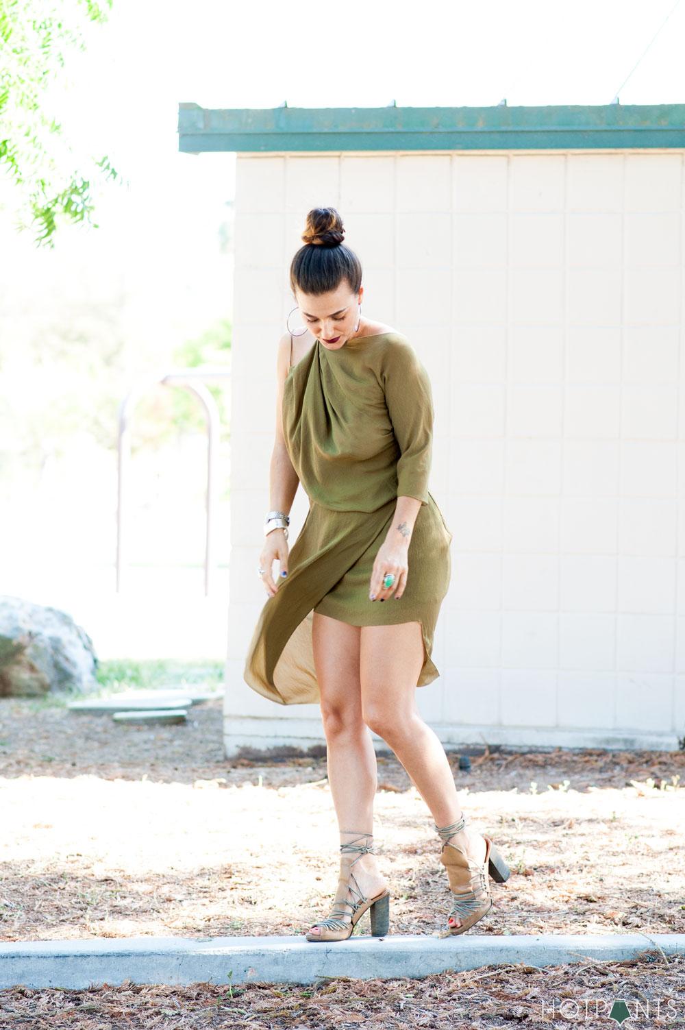 Healthy Woman Body Blogger California Long Hair Updo Bun Dark Lipstick