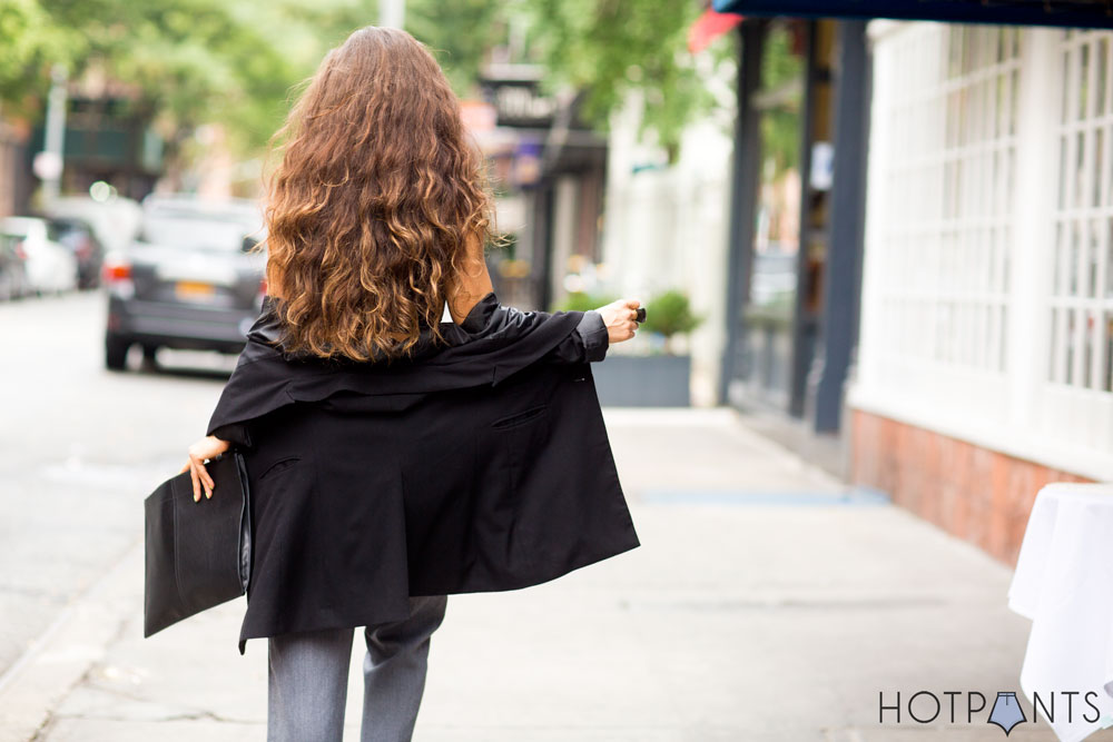 Long Oversize Blazer Business Clothing NYC Fashion Interview Outfit Clothes