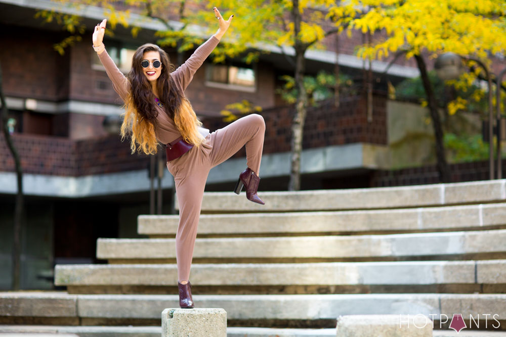 Healthy Girl Woman John Lennon Round Sunglasses Tan Nude Vintage Jumpsuit Ombre Hair