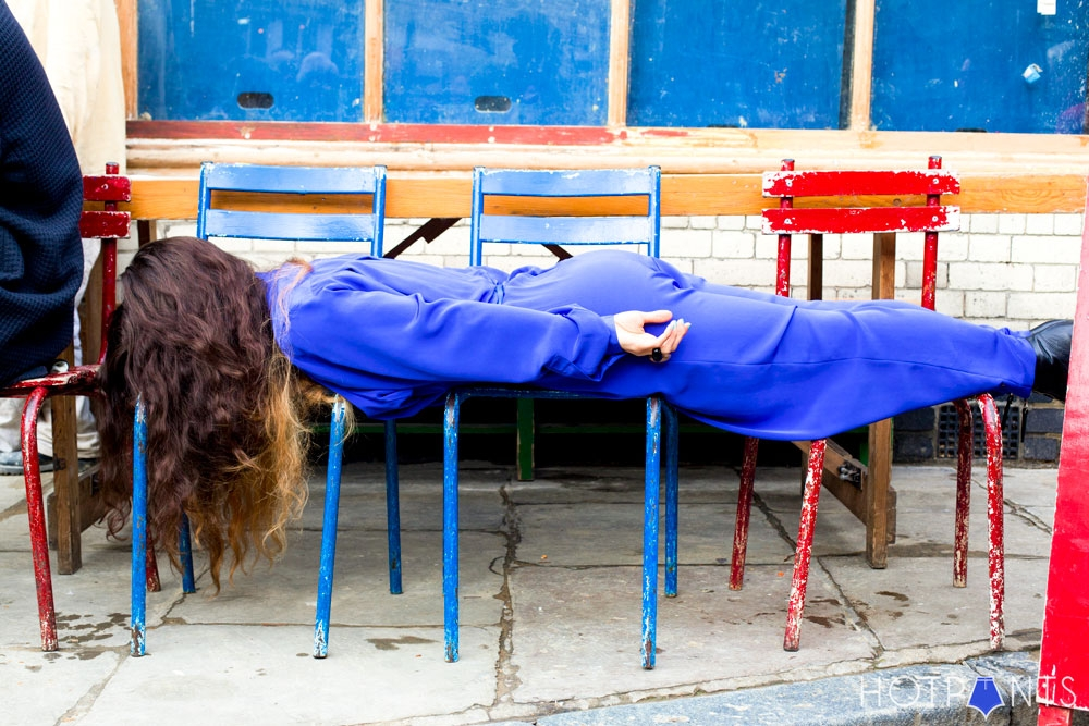 Girl Planking East London Shoreditch Canals Fall Winter British Flower Market