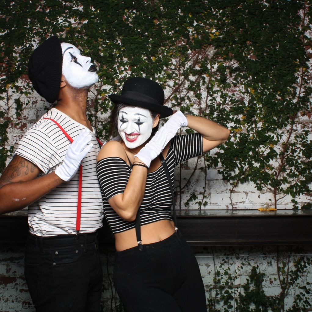 Do The Hotpants Dana Suchow Spree Wilson Mime Halloween Costume Facepaint Makeup 5