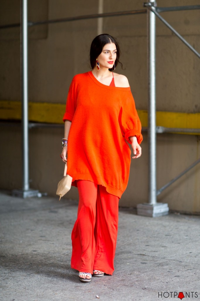 Do The Hotpants Dana Suchow Bright Red Wide Leg Pants Off Shoulder Jumpsuit 4