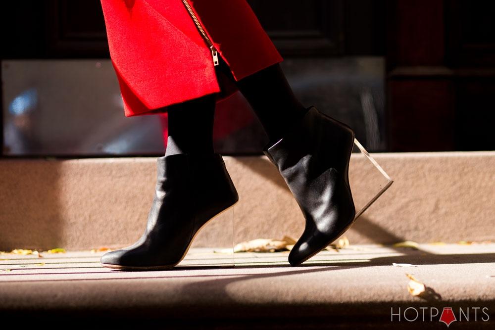 Margiela Maison Martin Margiela MMM Clear Wedge Heels Black Ankle Boots