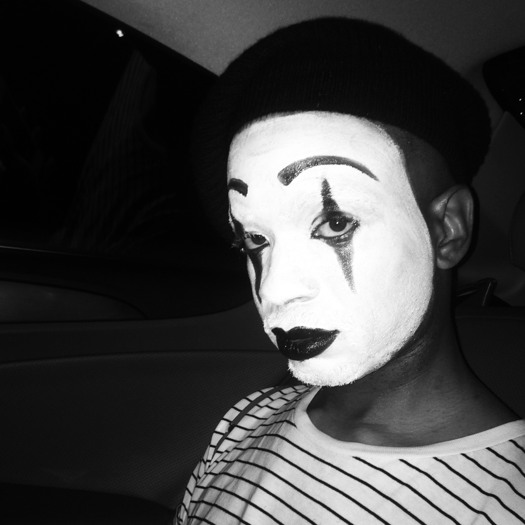 Spree Wilson Mime Makeup Halloween