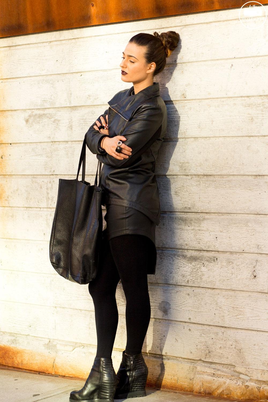 MAC Lipstick Film Noir Black Lips Curvy Blogger Ash Wedge Ankle Boots