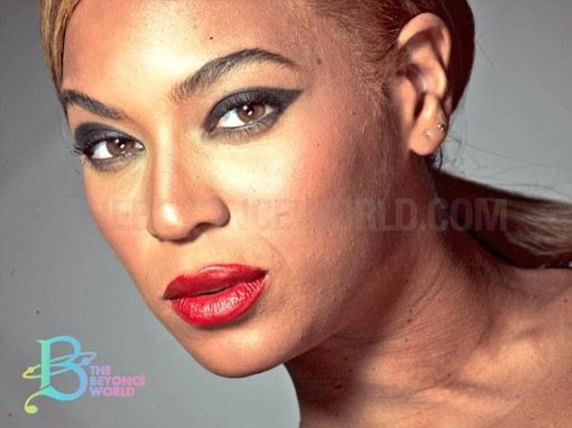 Beyonce Unretouched Photoshop Acne Loreal Photoshoot 2