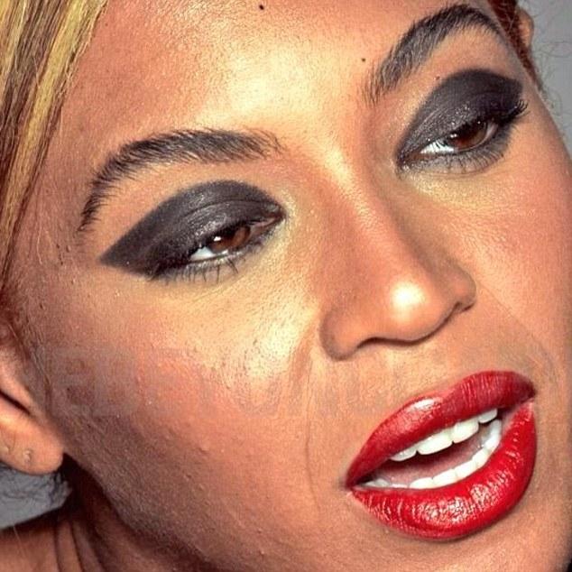Beyonce Unretouched Photoshop Acne Loreal Photoshoot 3