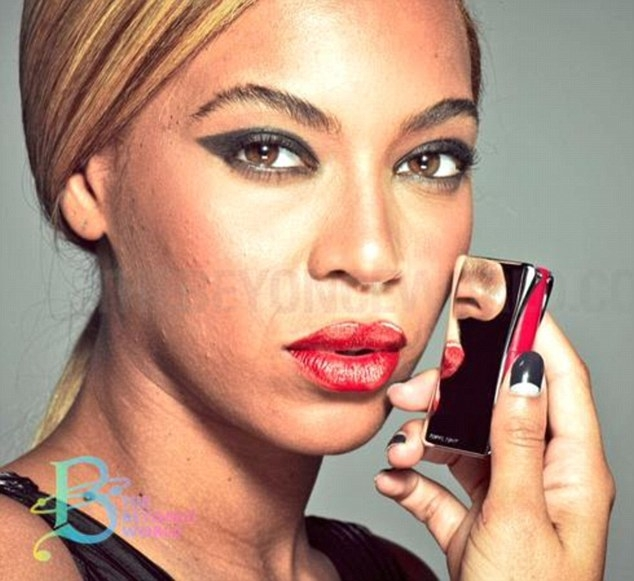 Beyonce Unretouched Photoshop Acne Loreal Photoshoot