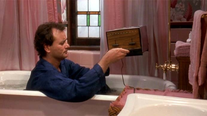 Bill Murray Groundhog Day Toaster Scene Suicide