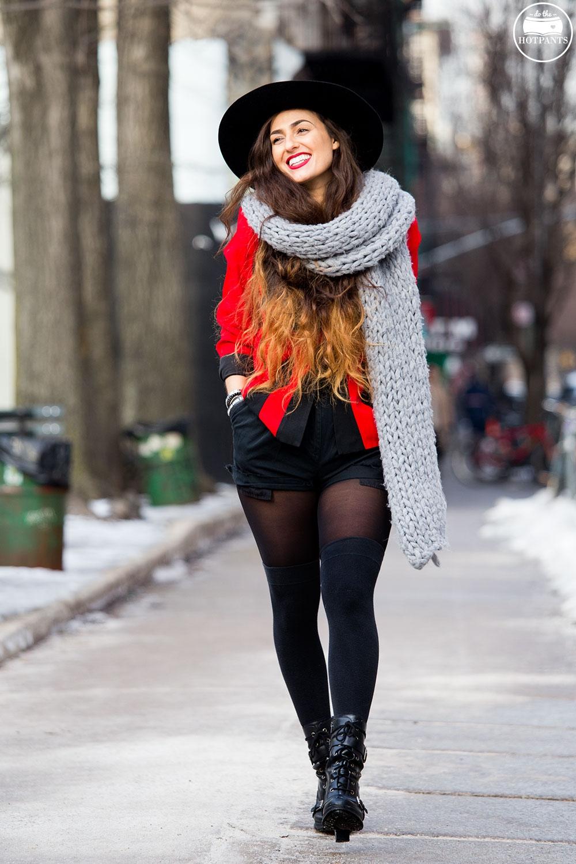Huge Oversize Winter Scarf Wide Brim Hat