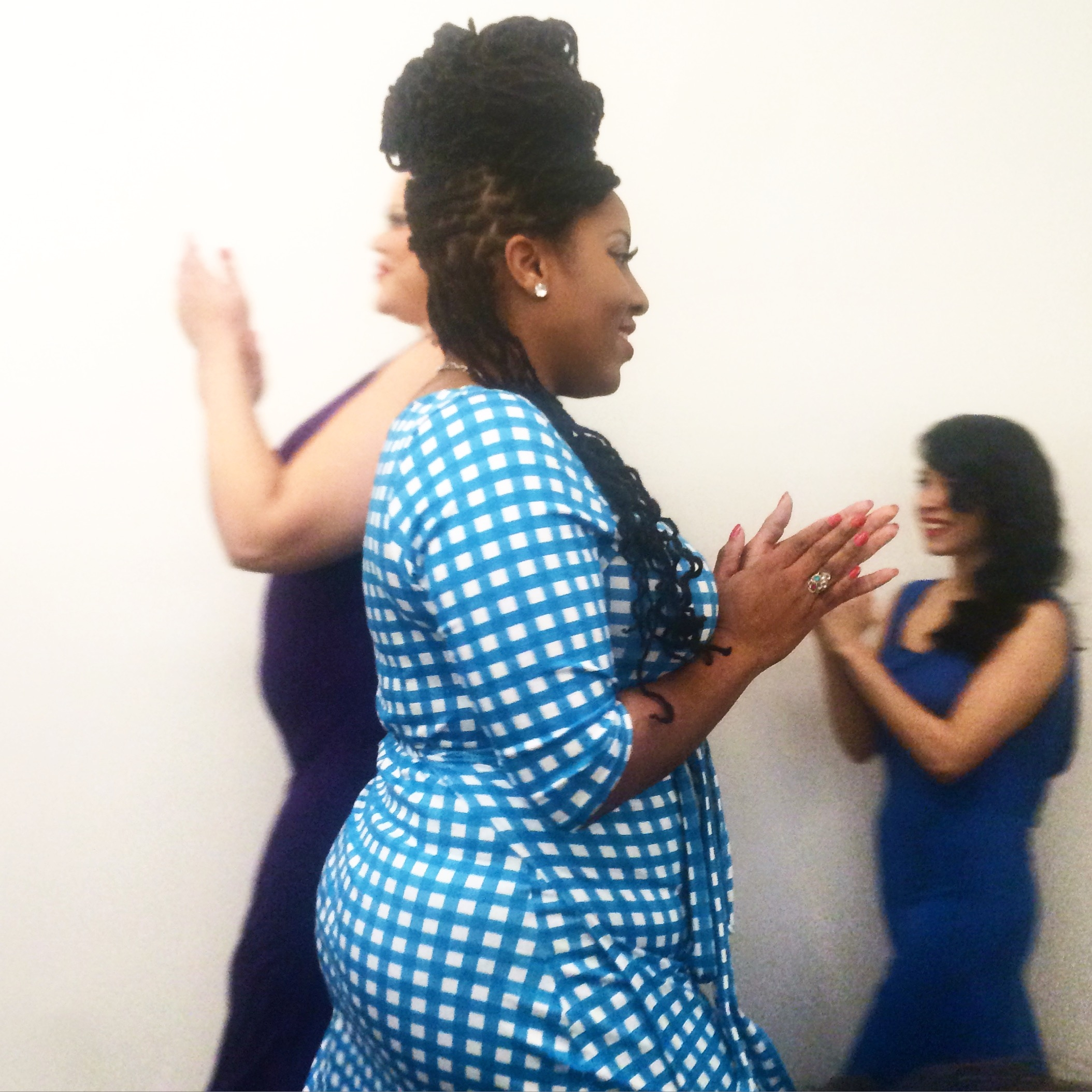 Body Positive Plus Size Models NYC NYFW Fashion Week Fashion Show Natural Hair Curvy Woman Runway