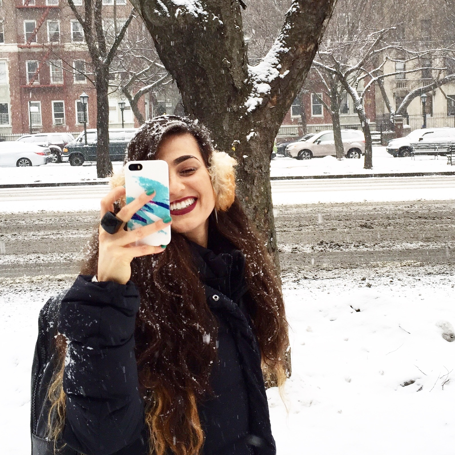 Dana Suchow Do The Hotpants Winter Snow NYC Storm Fashion OOTD Cold Weather Outfit Ideas
