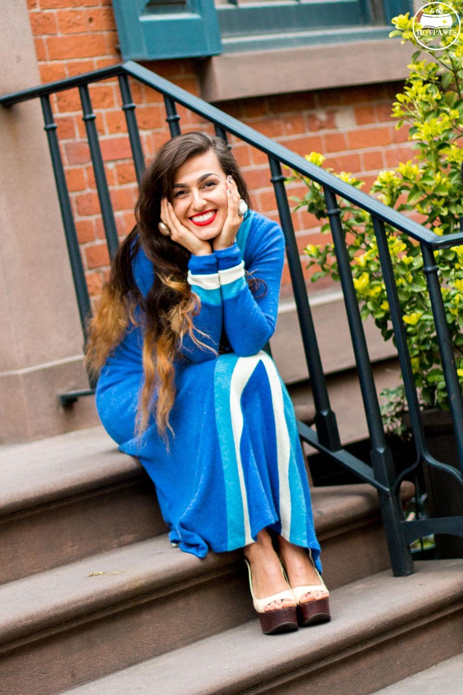 Do The Hotpants Dana Suchow 60s Psychadelic Maxi Dress Blue Mad Med Style Mod Fashion IMG_6725