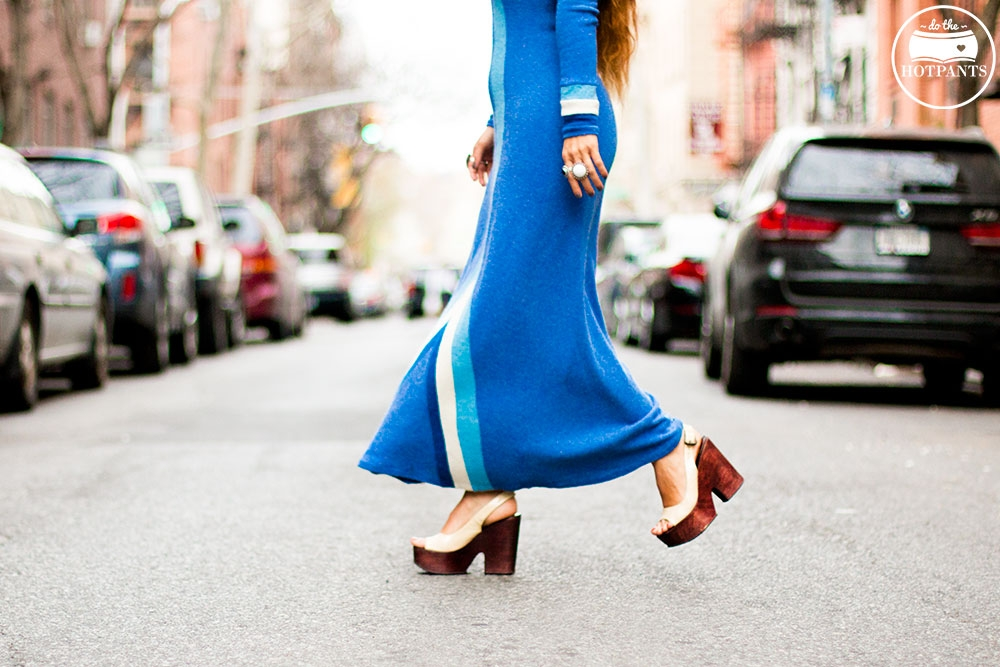 Do The Hotpants Dana Suchow 60s Psychadelic Maxi Dress Blue Mad Med Style Mod Fashion IMG_6768