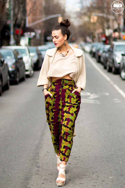 Purple Lipstick Long Hair Blogger Bun Updo Topknot Crop Top